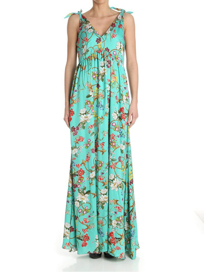 Green water color Ingannare dress Pinko
