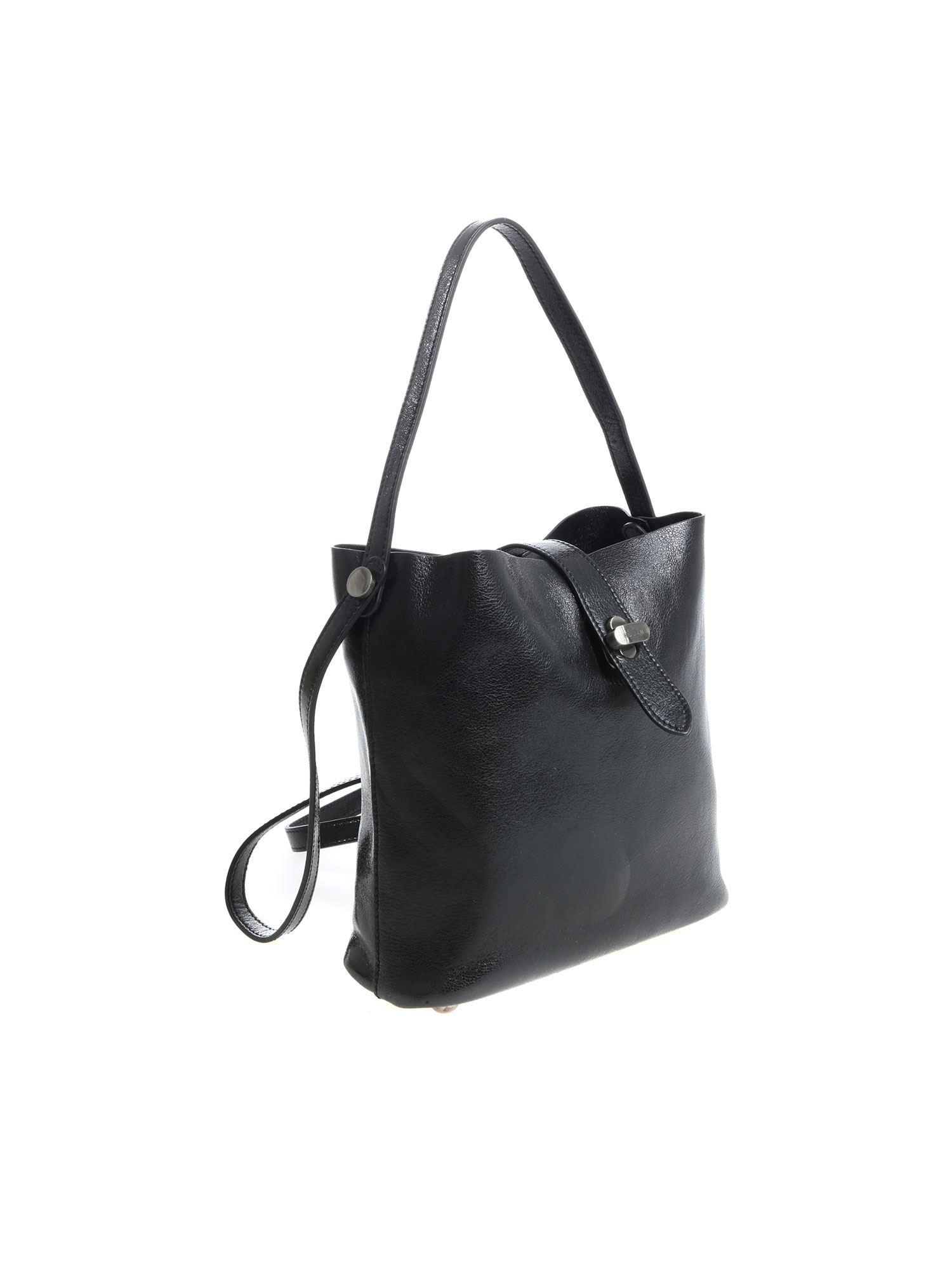 Hogan Black Leather Shoulder Bag in Black - Lyst 9185179afea30