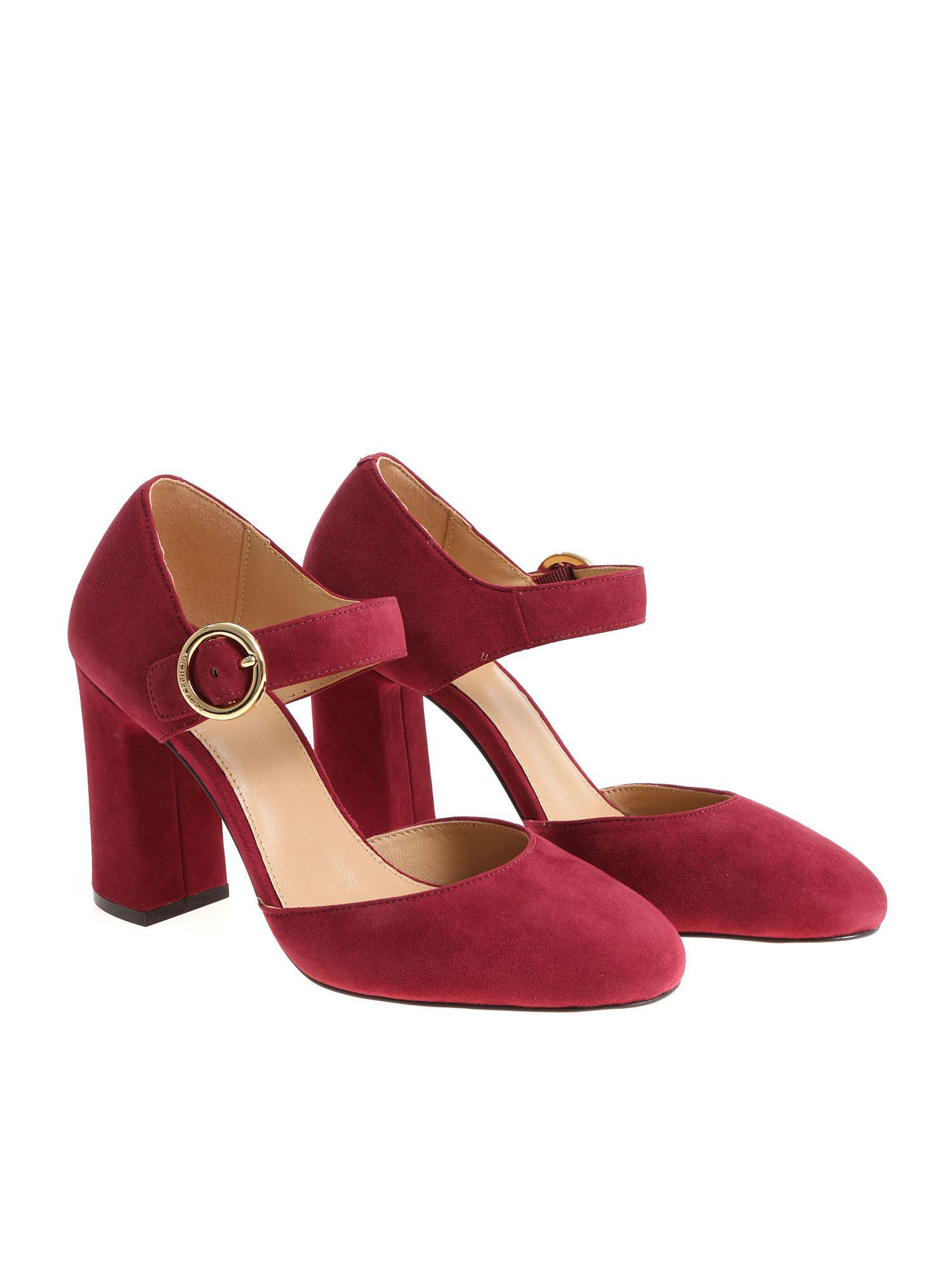 a0ded65a3994 Lyst - Michael Kors Burgundy Alana Pumps in Red