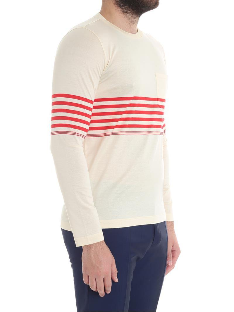 Paul Smith - Multicolor Cream-colored Sweater With A Pocket for Men - Lyst.  View Fullscreen 943153f2f