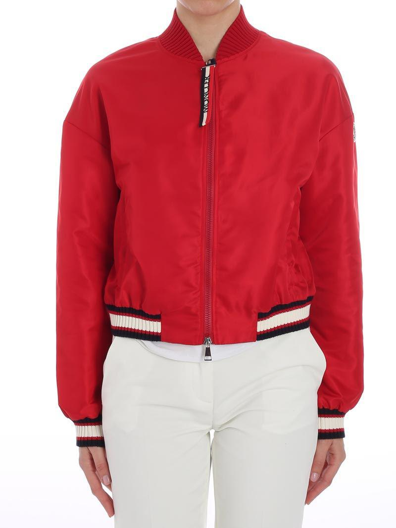 e4f52072915b Moncler Actinote Red Nylon Bomber Jacket in Red - Save 56% - Lyst