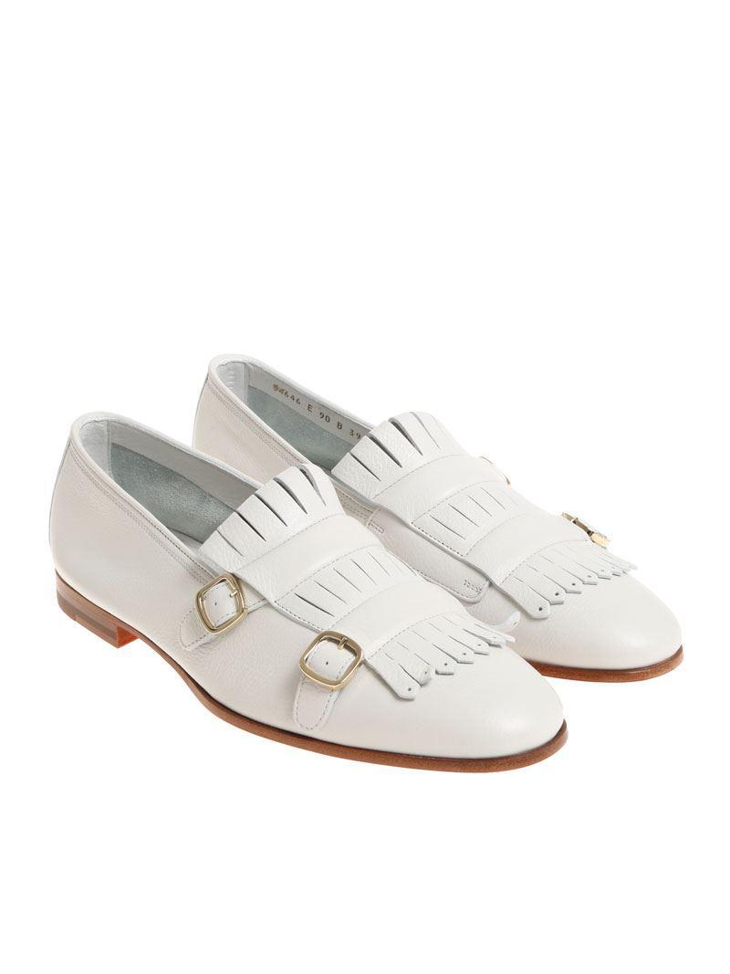 Chaussures En Cuir Martelé D'or Santoni fs4icZBFe