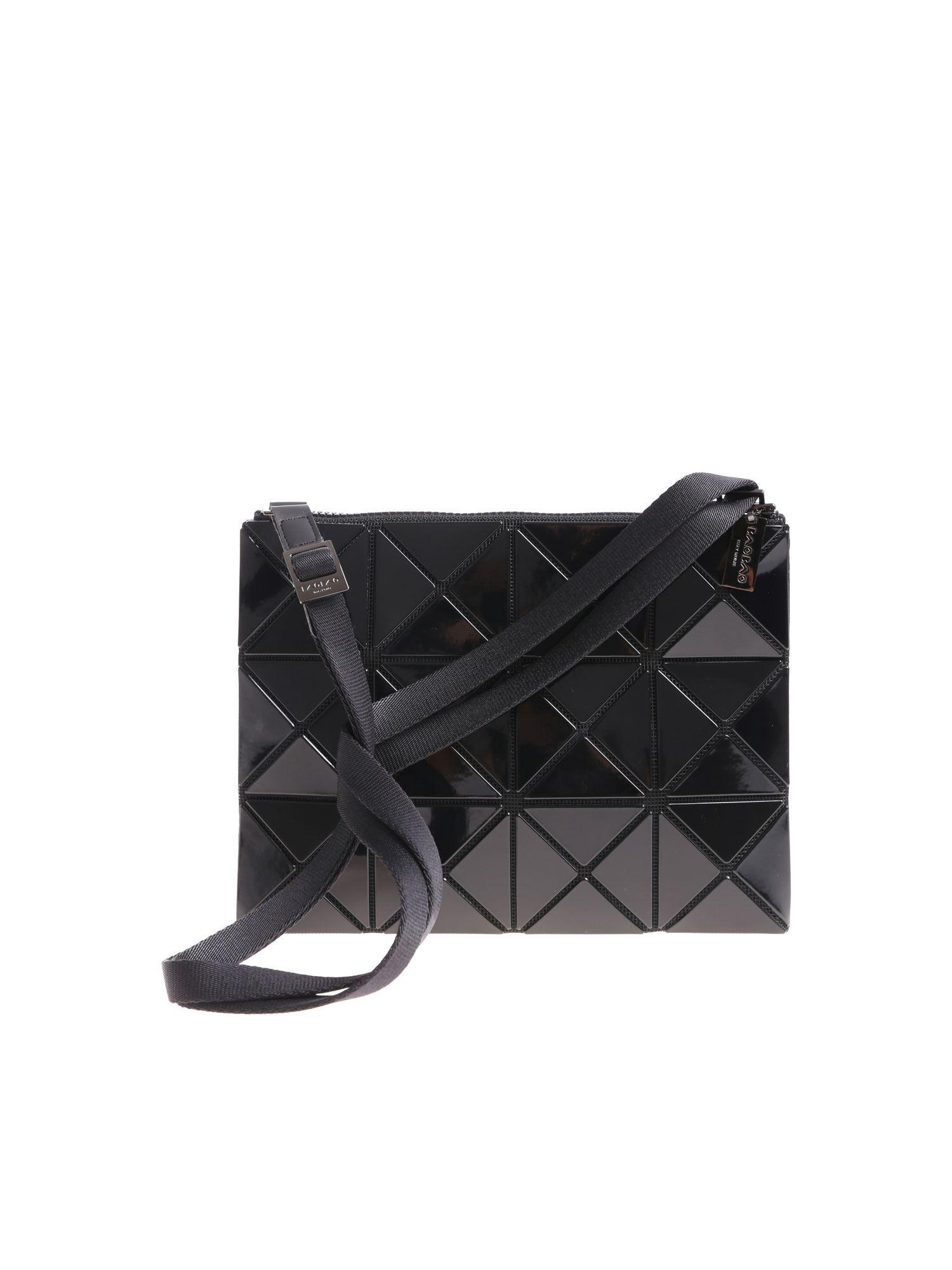 9d2953e1d5 Lyst - Bao Bao Issey Miyake Soft Black Shoulder Bag With Squares And ...