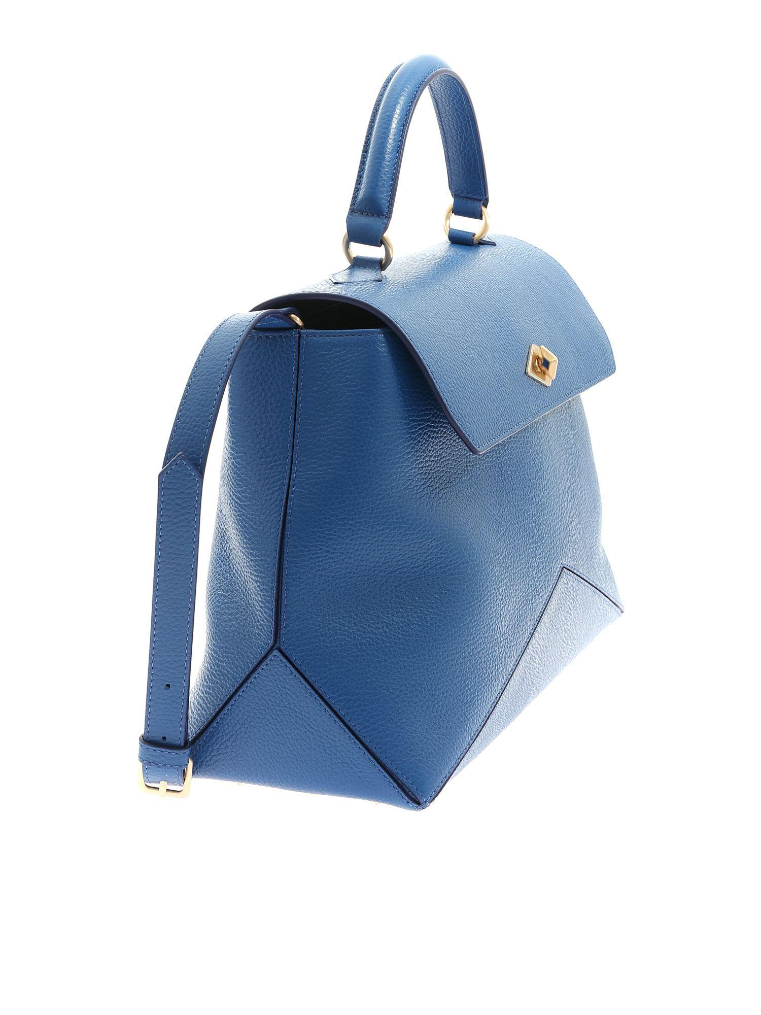 9fe2c8b245 Ballantyne Diamond Bag In Blue Hammered Leather in Blue - Lyst