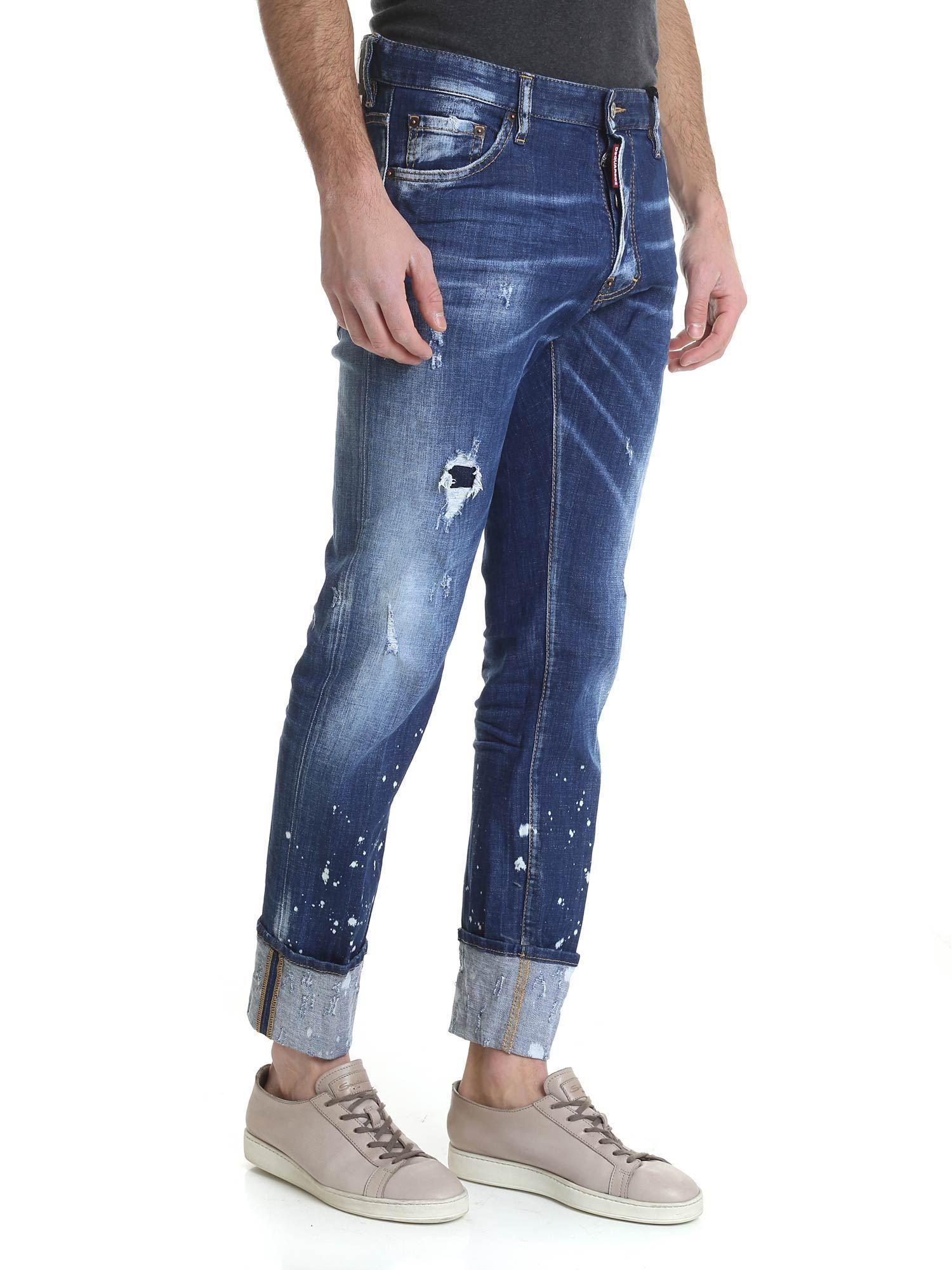 3b5e7415293 Lyst - DSquared² Cool Guy Jeans In Blue With Turned-up Bottom in Blue for  Men
