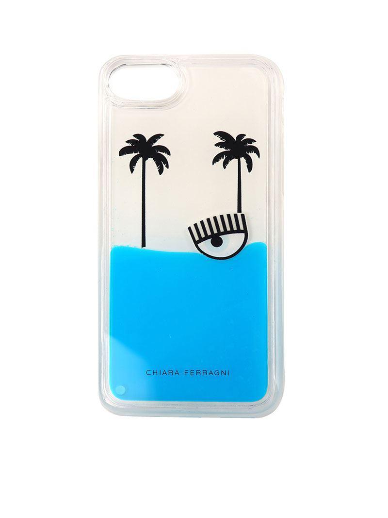 White I-Phone 6/7 S6 / S7 cover Chiara Ferragni rdQL5omS