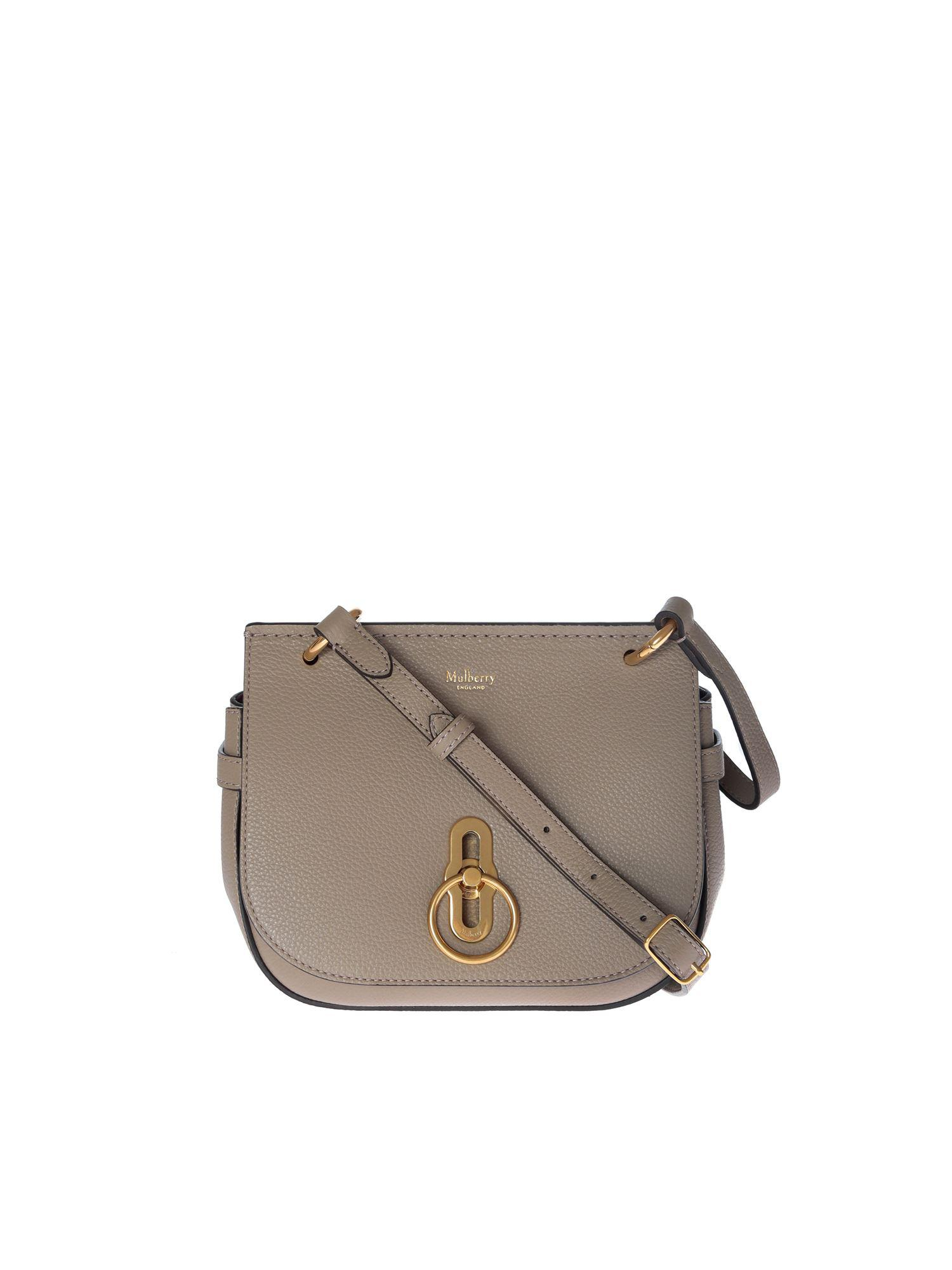 a2760c4b77b8 Mulberry - Gray Small Amberley Satchel Bag In Dove Grey Leather - Lyst.  View fullscreen