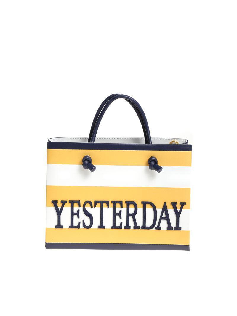Alberta Ferretti Red and white Today striped shoulder bag az7TCOP