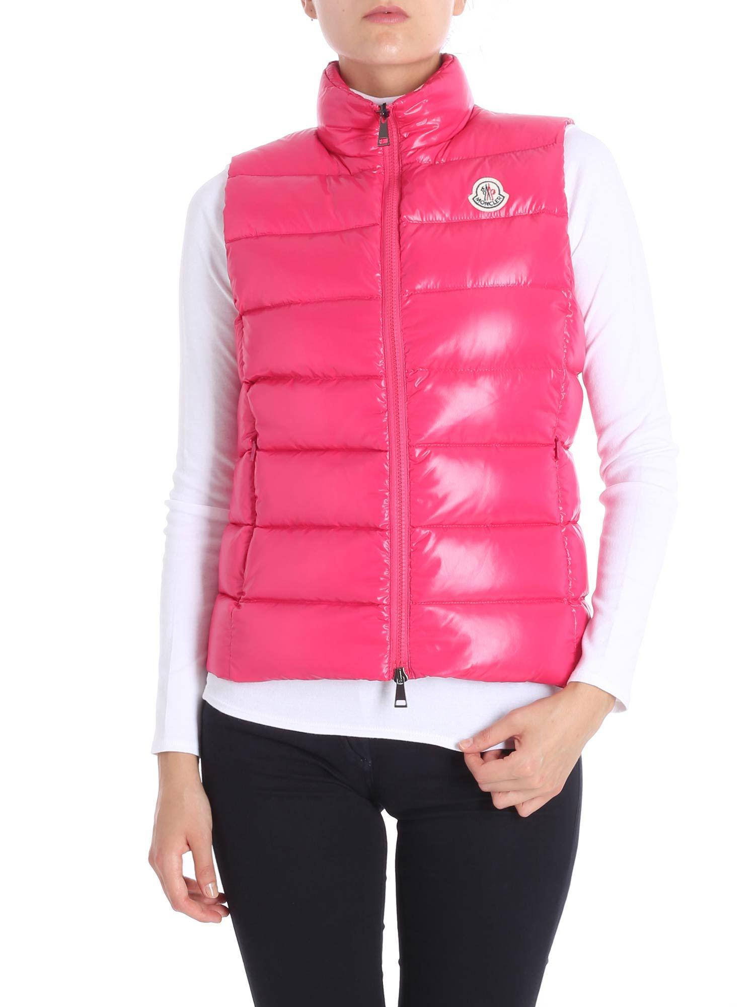 9a851fa15ee5 ... cheapest moncler. womens pink ghany fuchsia down jacket be936 52435