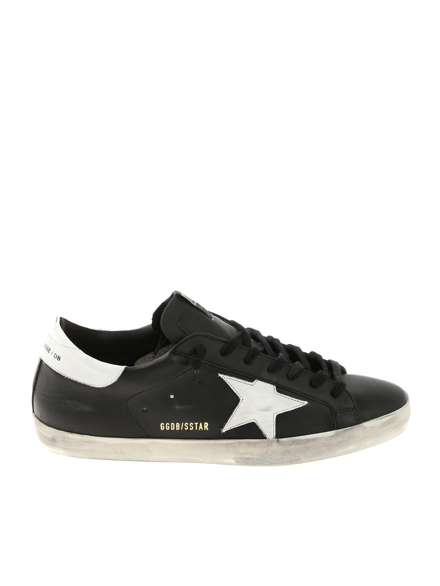 08b50df1cc60 Golden Goose Deluxe Brand. Men s Black Vintage Effect Superstar Sneakers