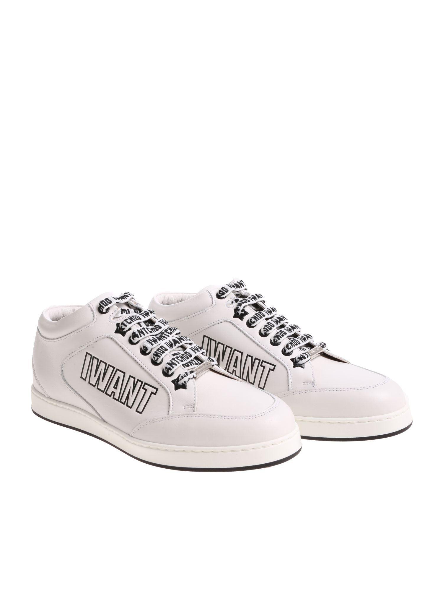 fbb1c0f1eba Lyst - Jimmy Choo Miami I Want Choo White Sneakers in White