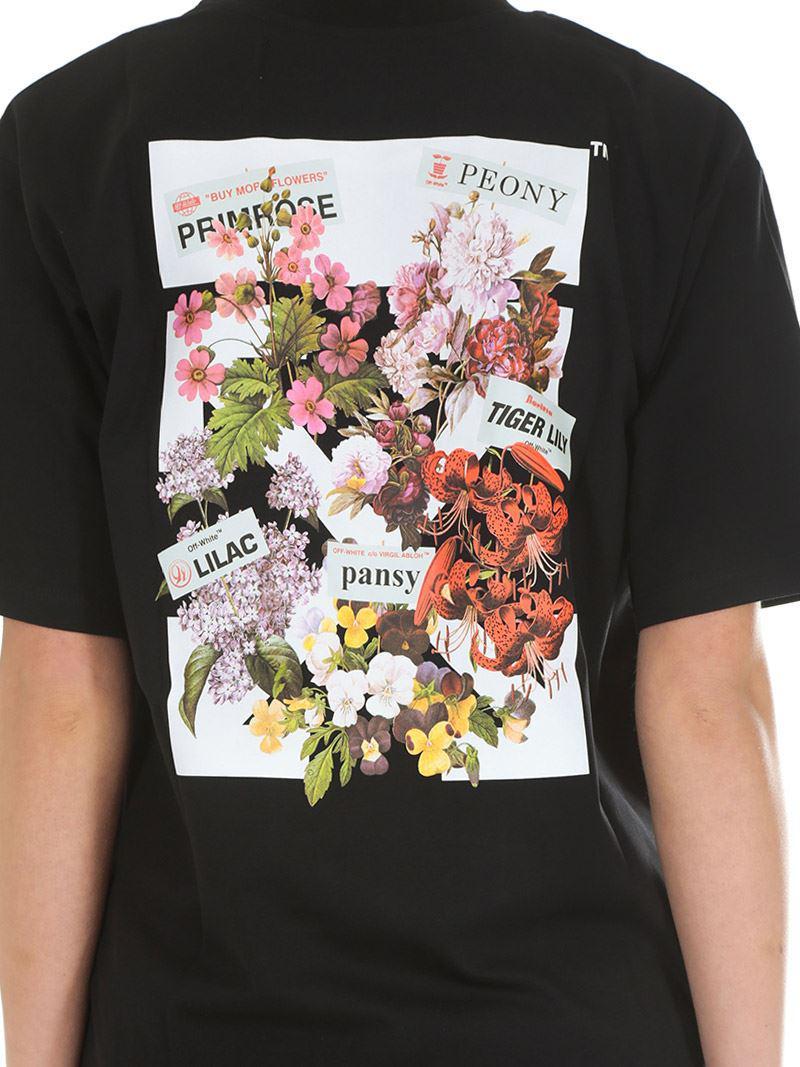 2f1501e1cdd975 Off-White c/o Virgil Abloh Black Flower Shop New Oversize T-shirt in ...