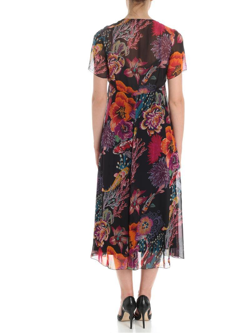 Clearance The Cheapest Cheap Newest Black Ocean printed dress Paul Smith Free Shipping Pick A Best MnrH2SW