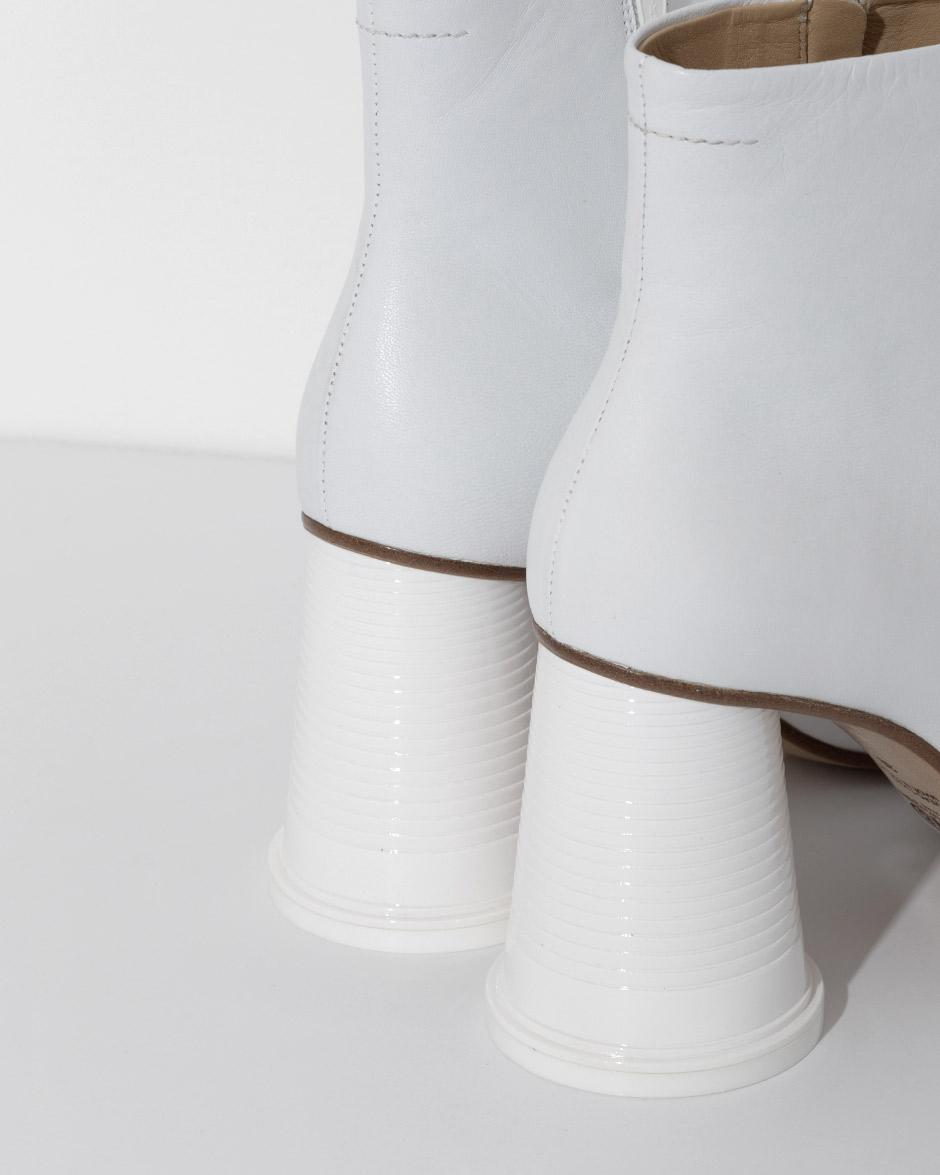 MM6 Maison Martin Margiela White 'Cup to Go' Ankle Boots