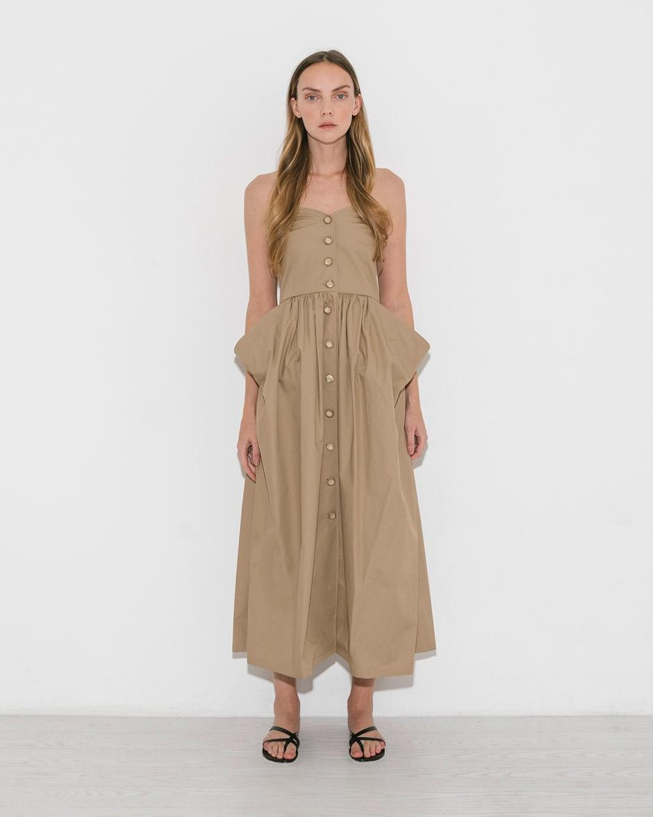 e2fe07d4042f Maryam Nassir Zadeh Khaki Pilar Dress in Natural - Lyst
