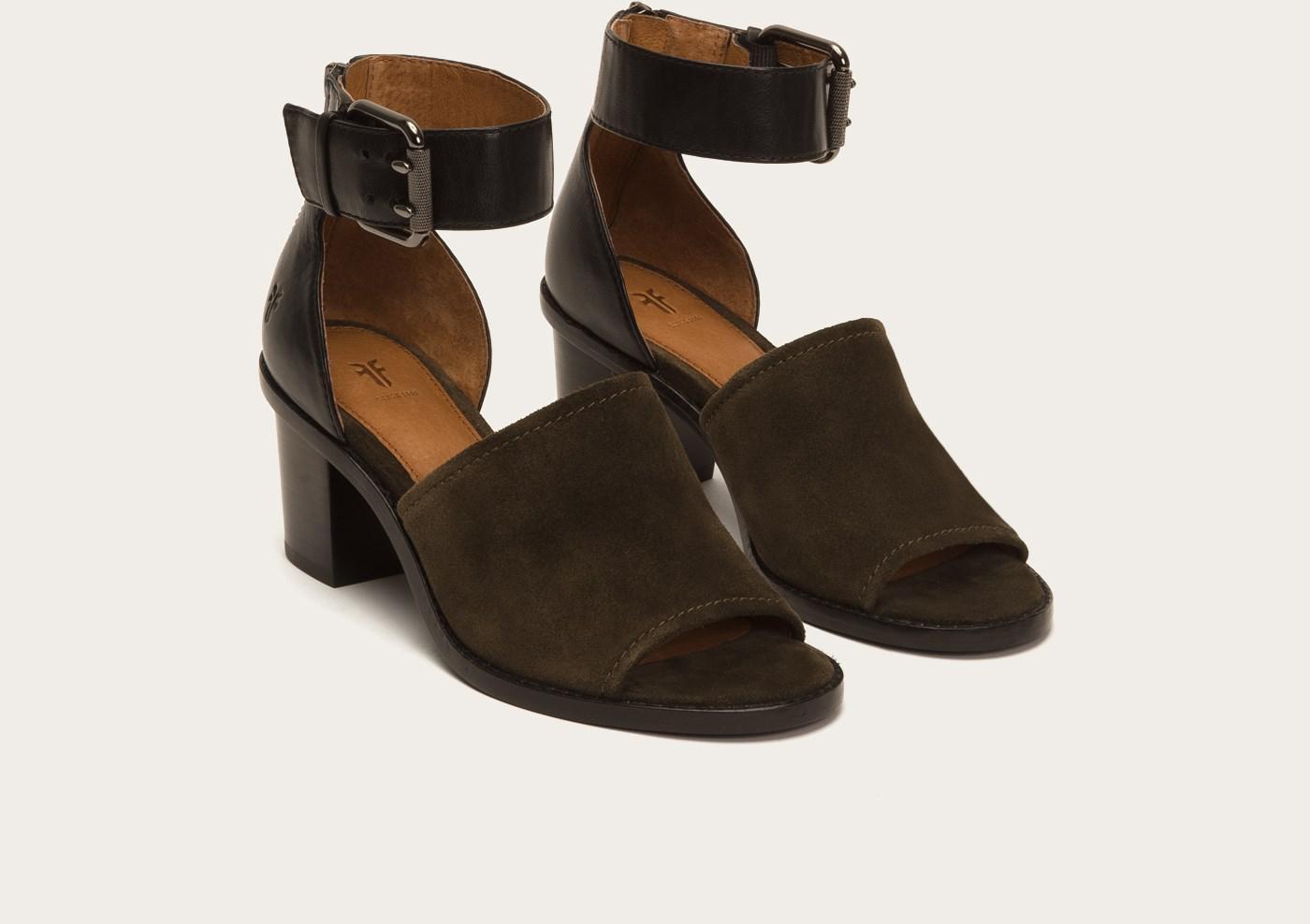 d0ba43ba2370bd Lyst - Frye Brielle Ankle Strap in Black