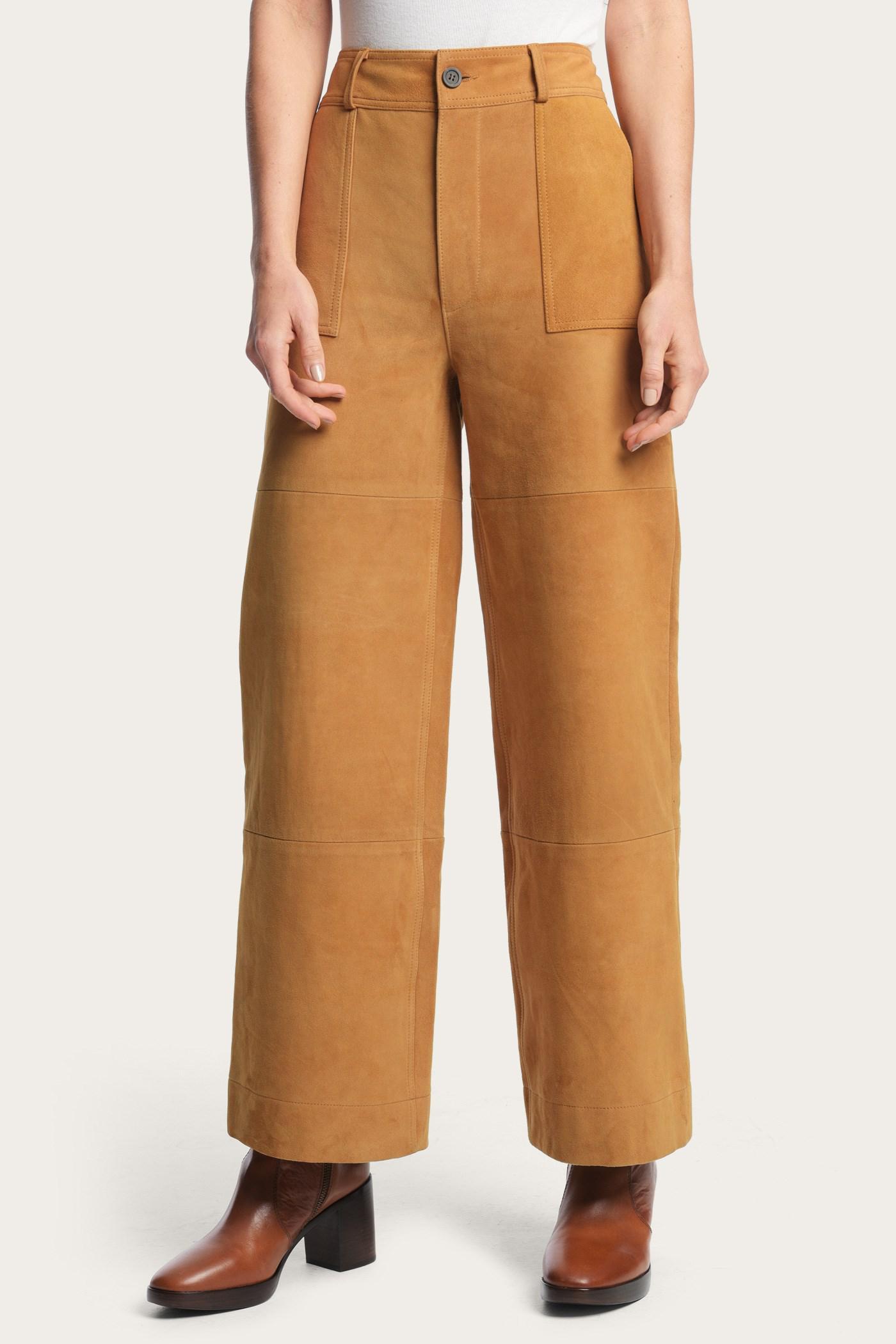 d69e340c2bac Frye - Multicolor Nadia Wide Leg Suede Pant - Lyst. View fullscreen