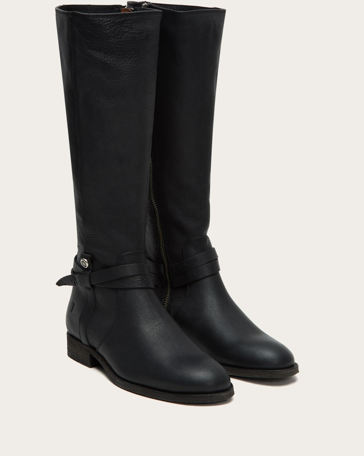 76d952768c9 Frye - Black Melissa Belted Tall - Lyst. View fullscreen