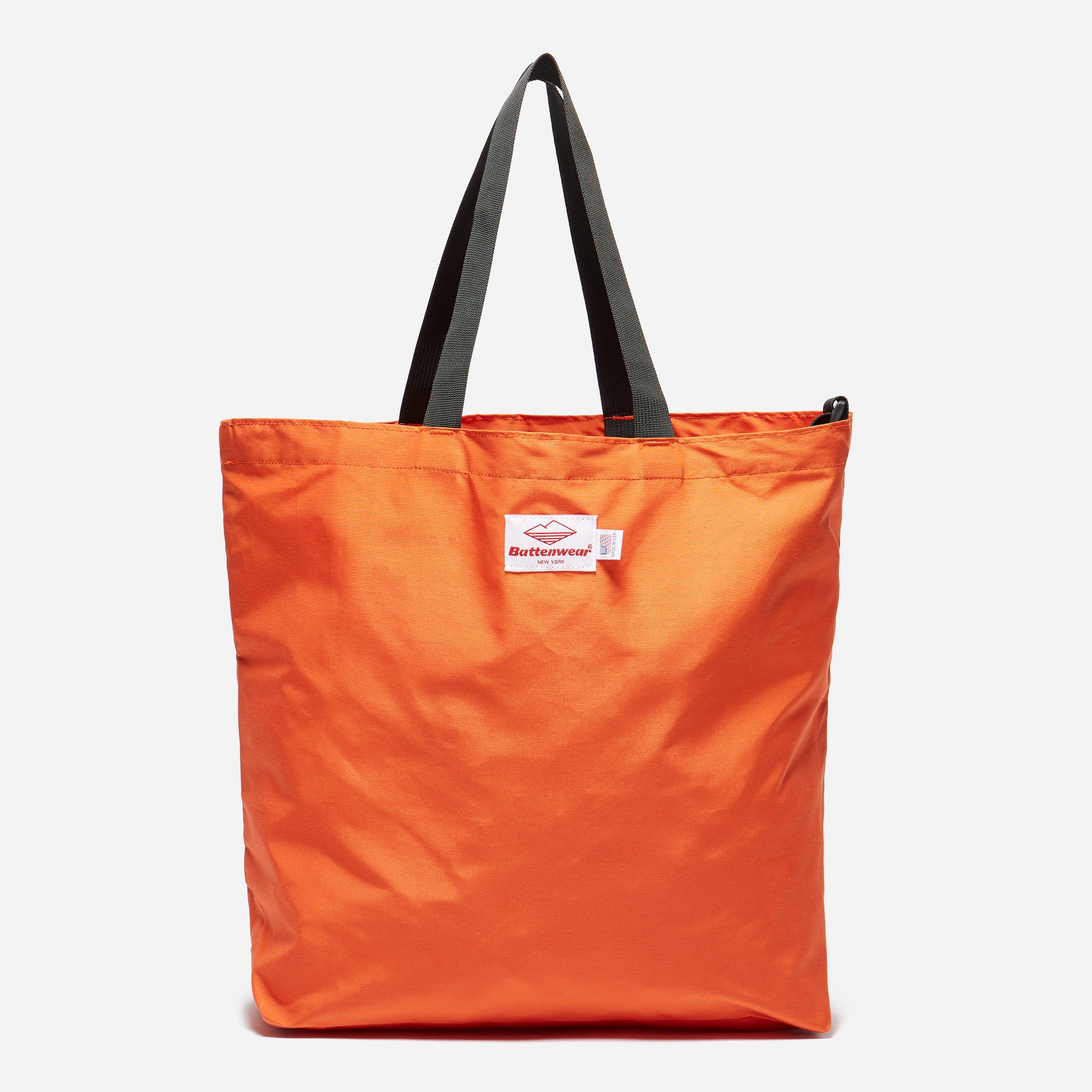 56b463a87 Battenwear Packable Tote in Orange for Men - Lyst