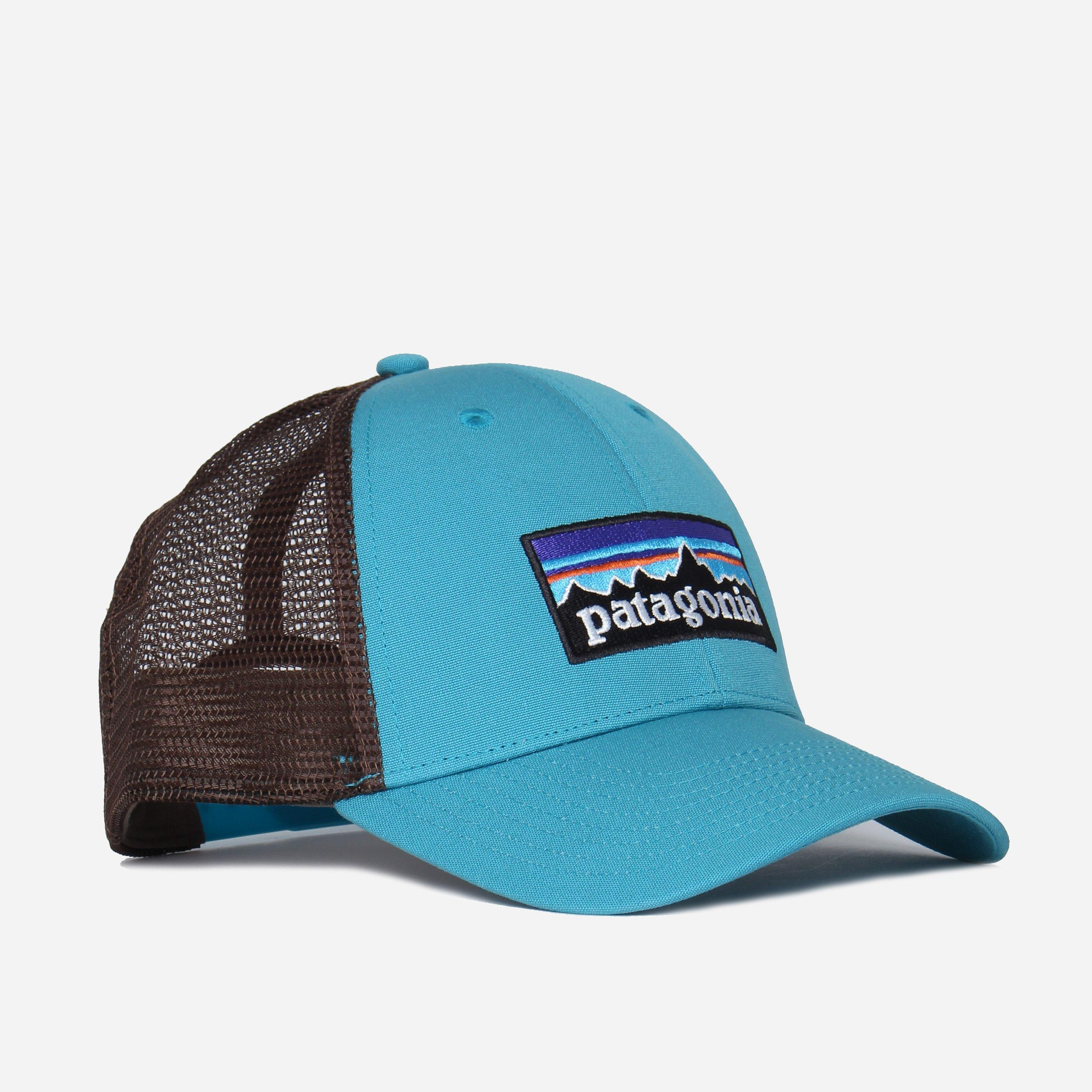 112fa276bdbef Patagonia P-6 Logo Trucker Cap in Blue for Men - Lyst