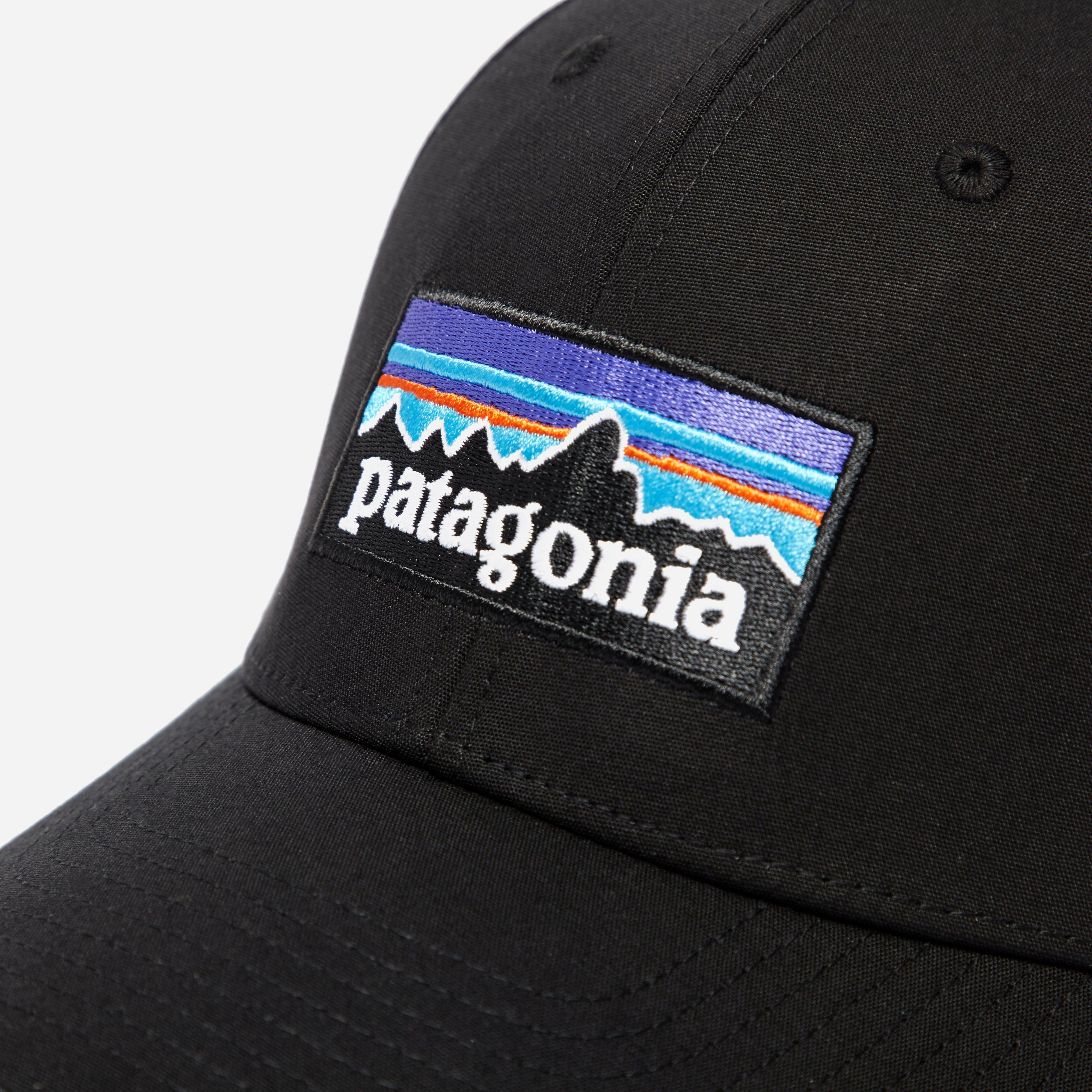 7cf178622ba Lyst - Patagonia P-6 Logo Stretch Fit Hat in Black for Men