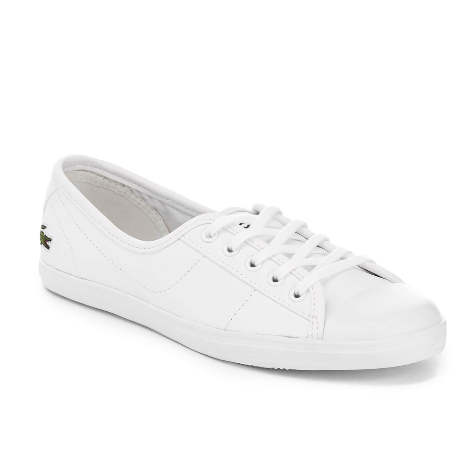 b6055be93 Lacoste Women s Ziane Leather Chunky Pumps in White - Lyst