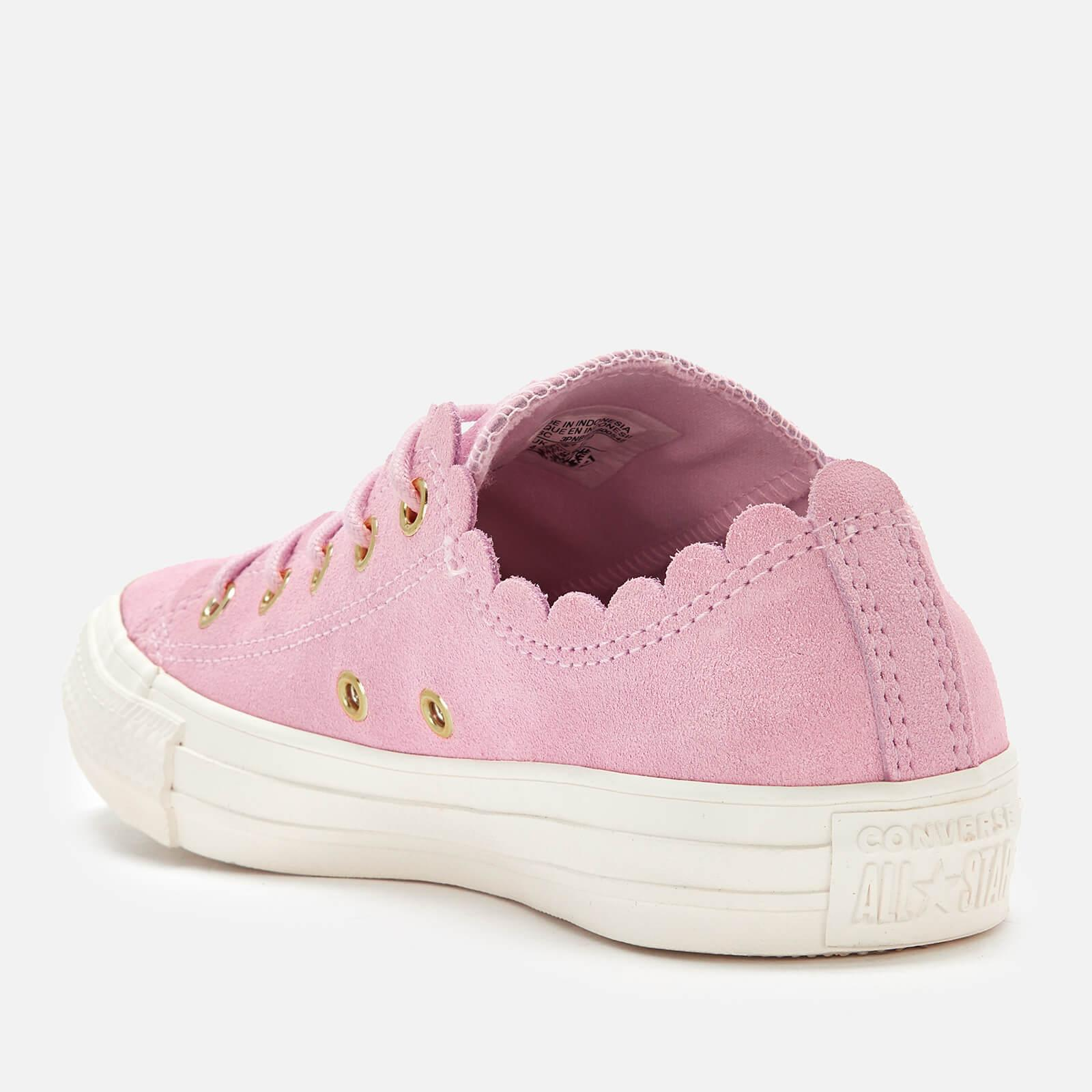 Converse - Pink Chuck Taylor All Star Scalloped Edge Ox Trainers - Lyst.  View fullscreen 4b2c982cf