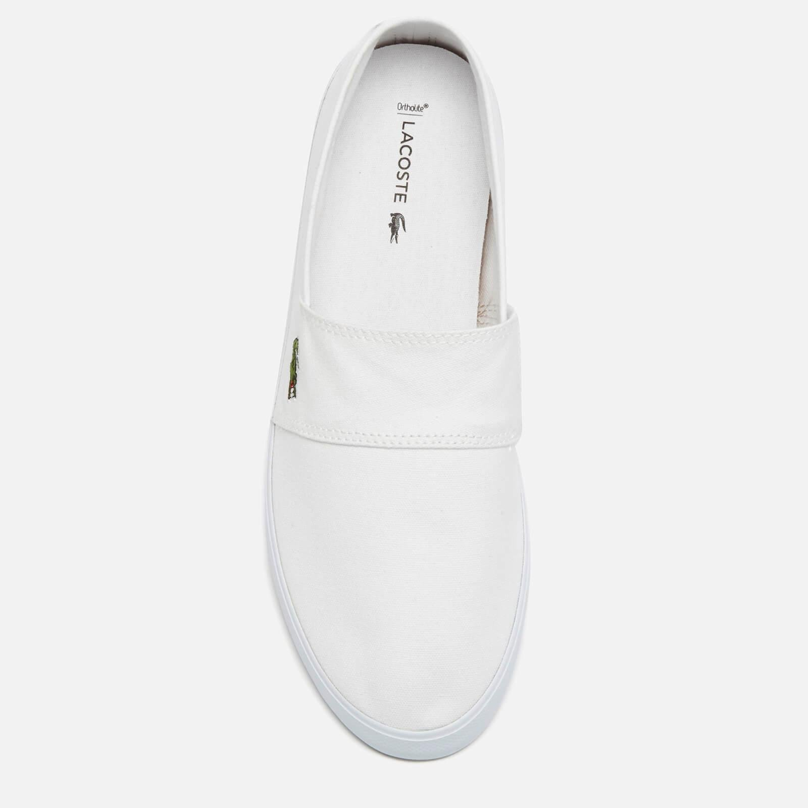 a191e56dd Lacoste - White Marice Bl 2 Canvas Slip-on Pumps for Men - Lyst. View  fullscreen
