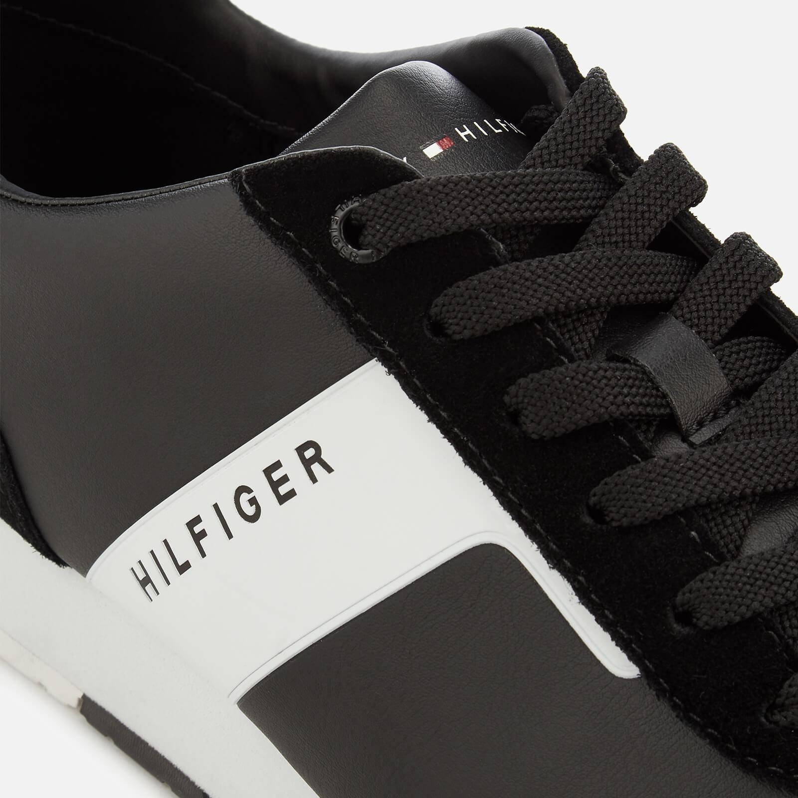 77a66c388 ... Leather Material Mix Runner Trainers for Men - Lyst. View fullscreen