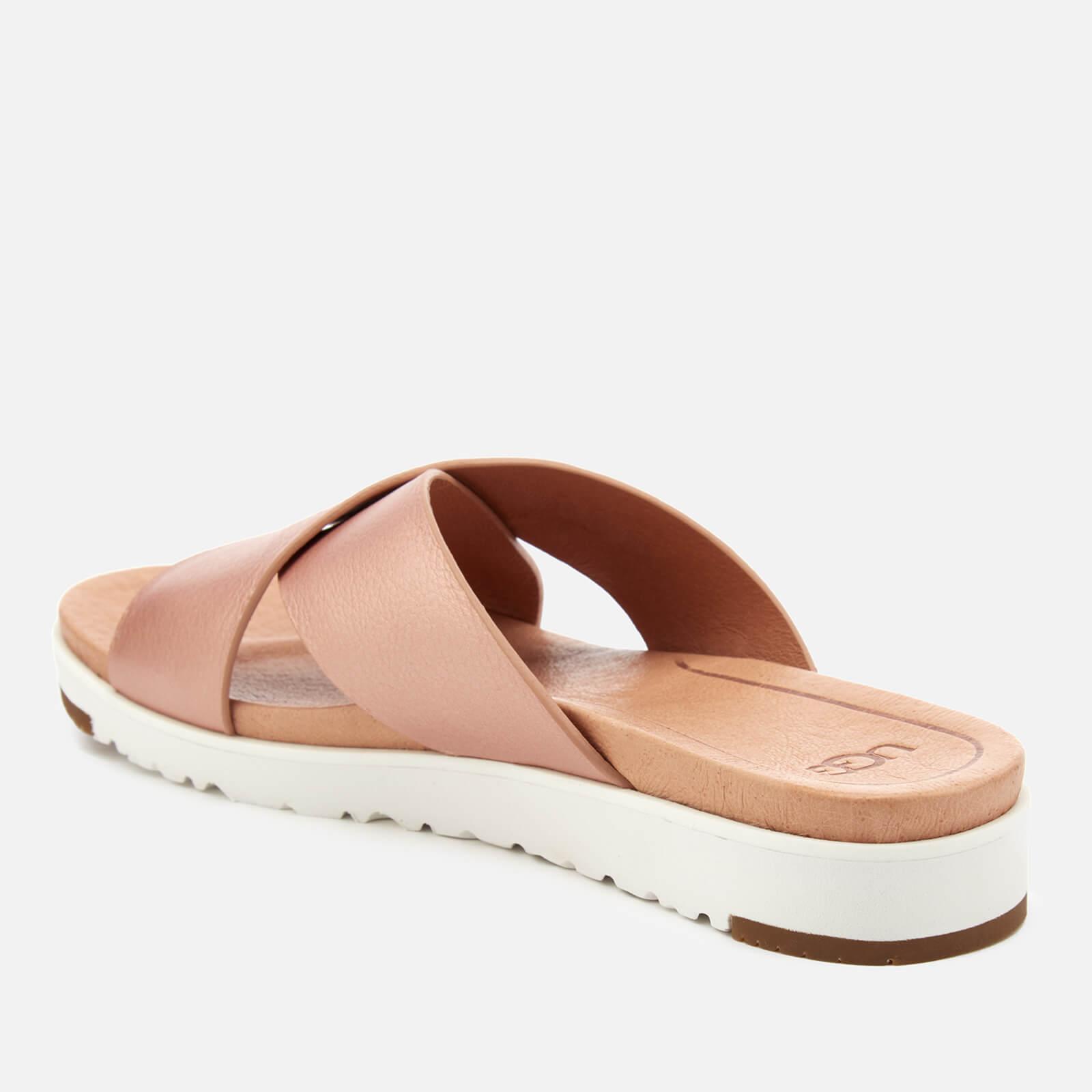 337d91c71933 Ugg - Pink Kari Metallic Cross Strap Slide Sandals - Lyst. View fullscreen