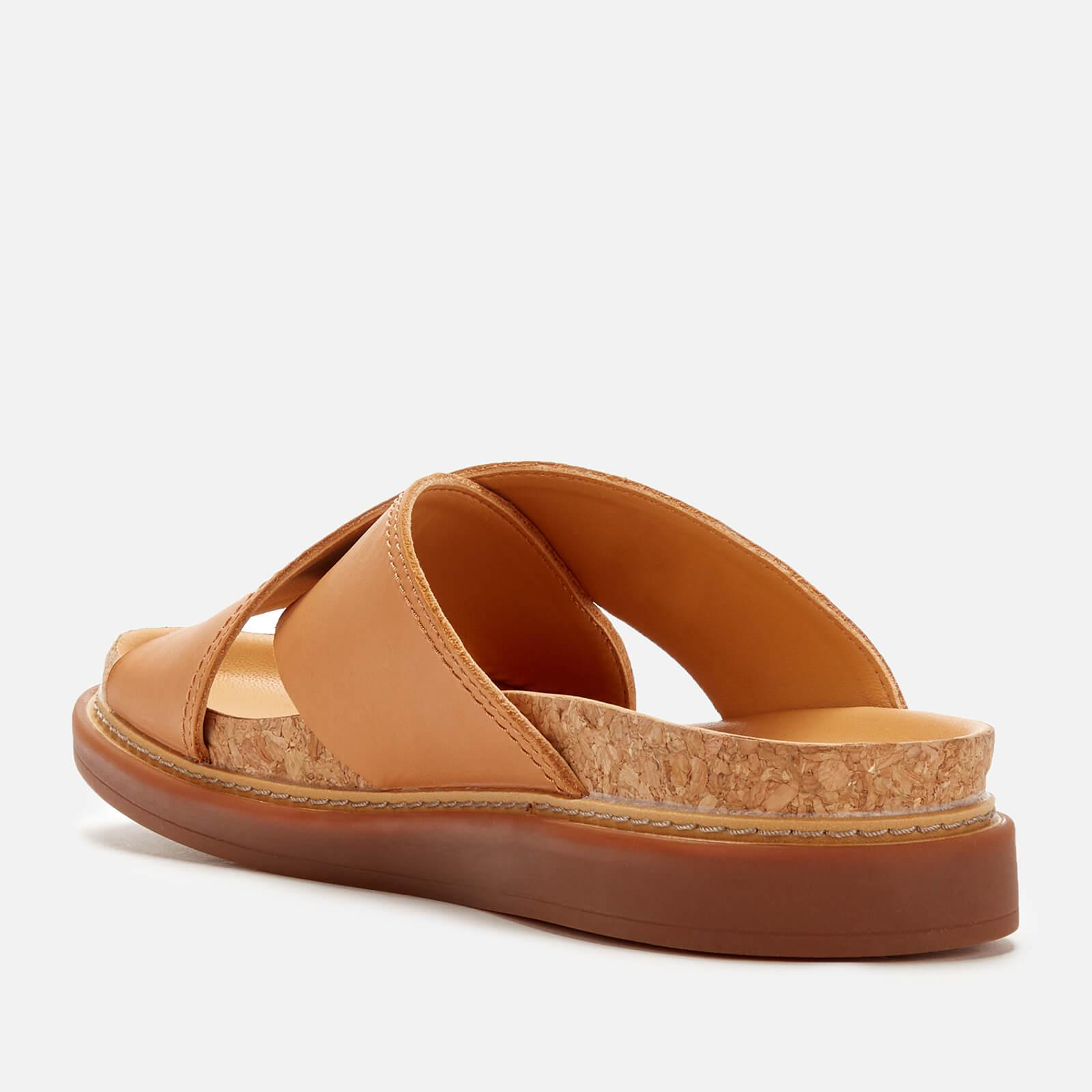 7646854b42f6 Lyst - Clarks Trace Drift Leather Cross Front Sandals in Brown ...