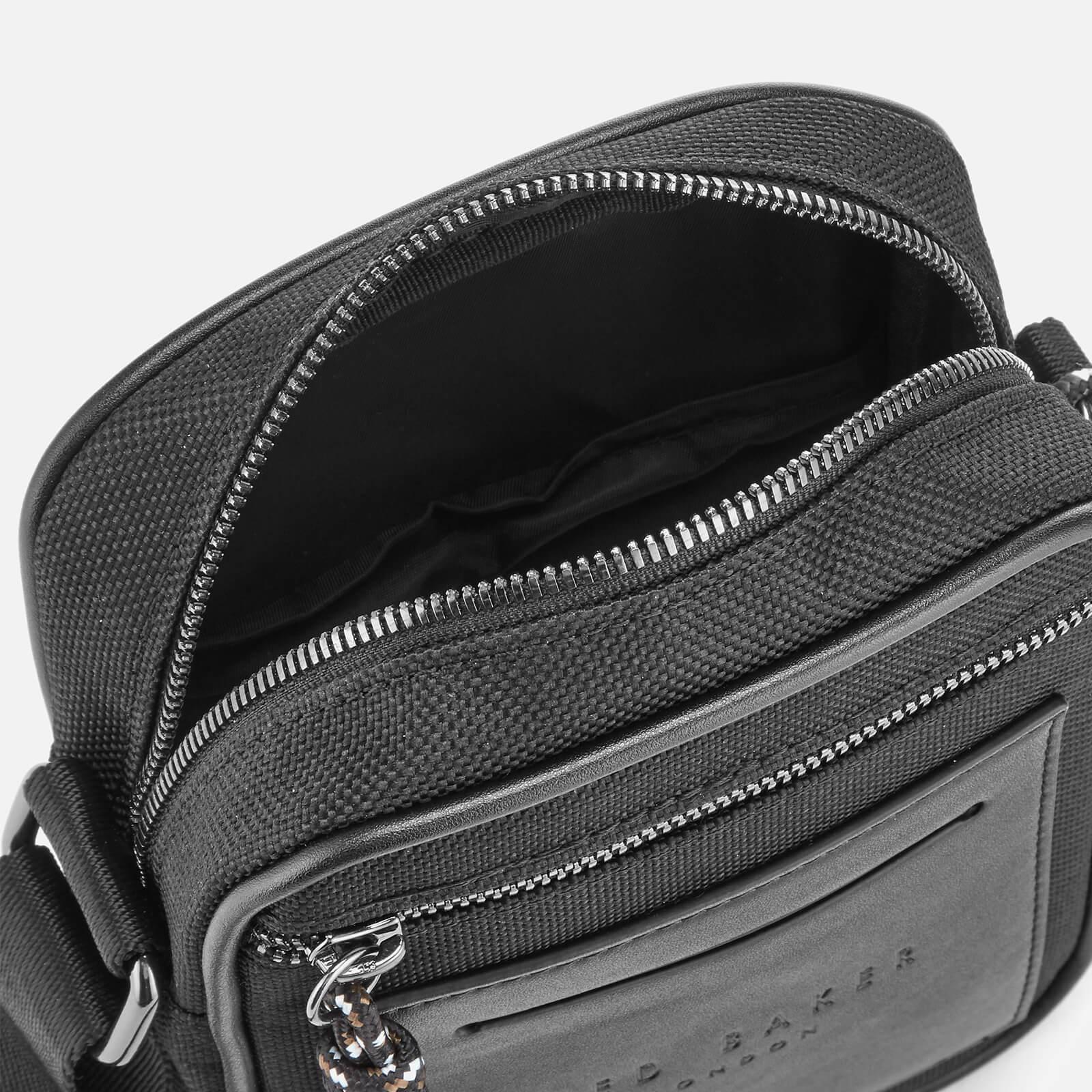 a976c3cb8 Lyst - Ted Baker Mowse Smart Nylon Mini Flight Bag in Black for Men