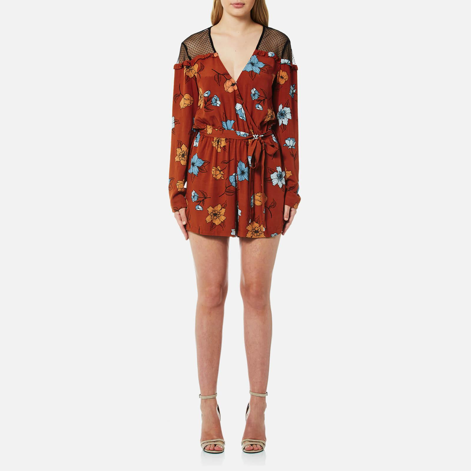 1ff815baf83 Lyst - MINKPINK Ornate Playsuit in Red - Save 27.272727272727266%