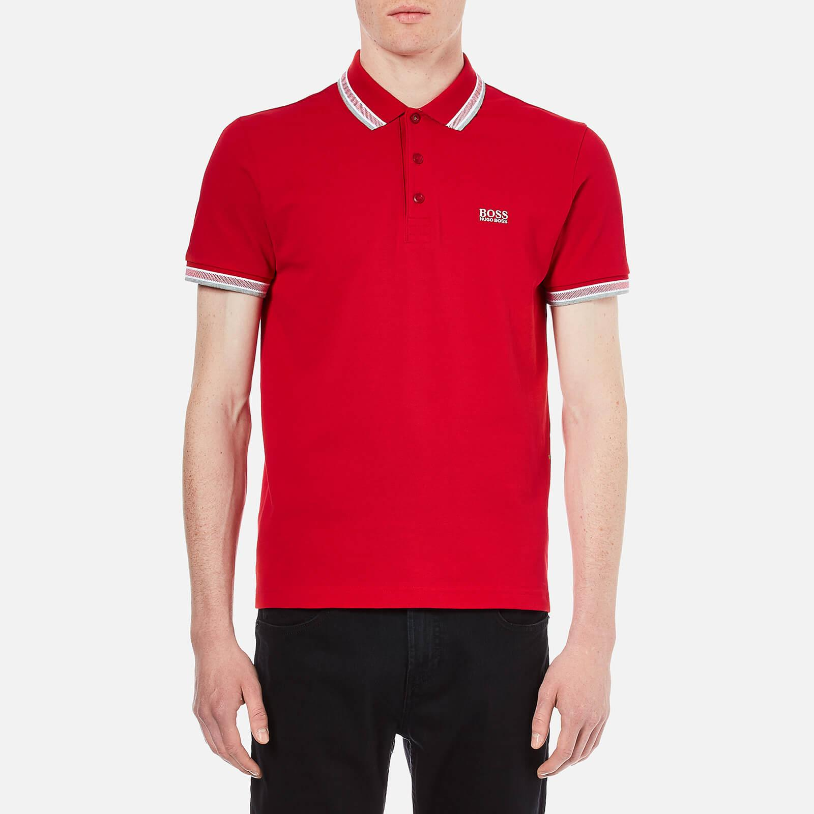 3b3fd3d19 BOSS Green Men's Paddy Polo Shirt in Red for Men - Save 29% - Lyst