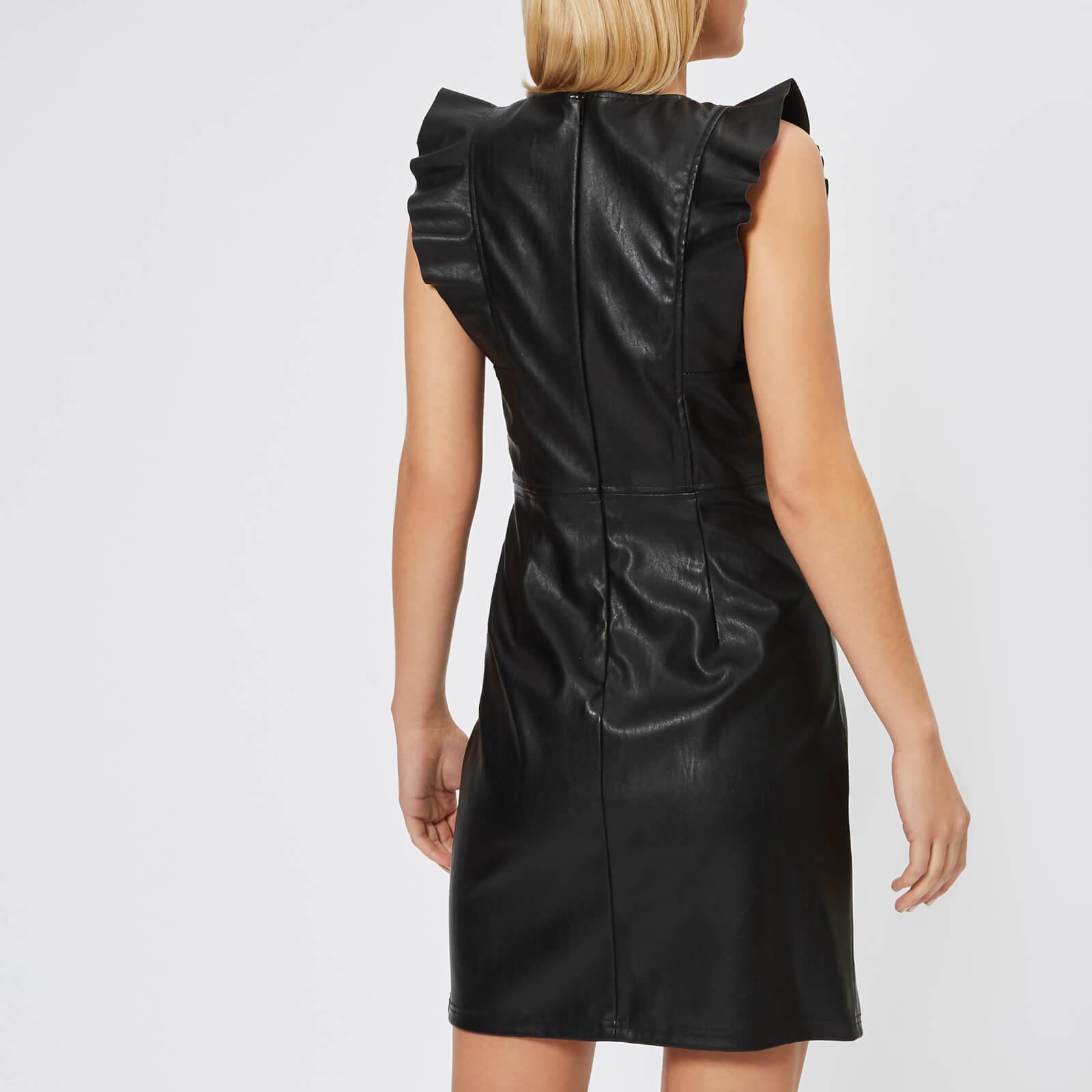 356819dcb0 Armani Exchange - Black Stretch Echo Leather Look Dress - Lyst. View  fullscreen