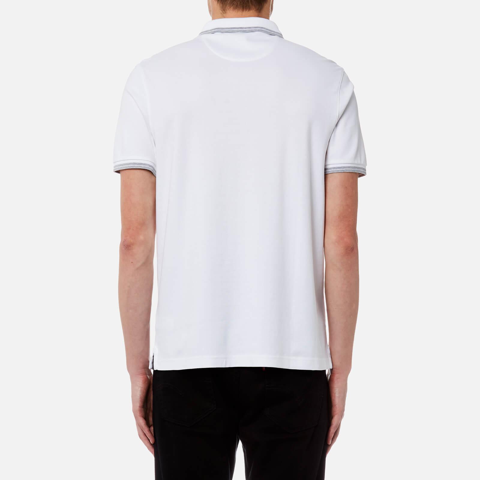 da1e3582 Michael Kors - White Greenwich Logo Jacquard Short Sleeve Polo Shirt for Men  - Lyst. View fullscreen
