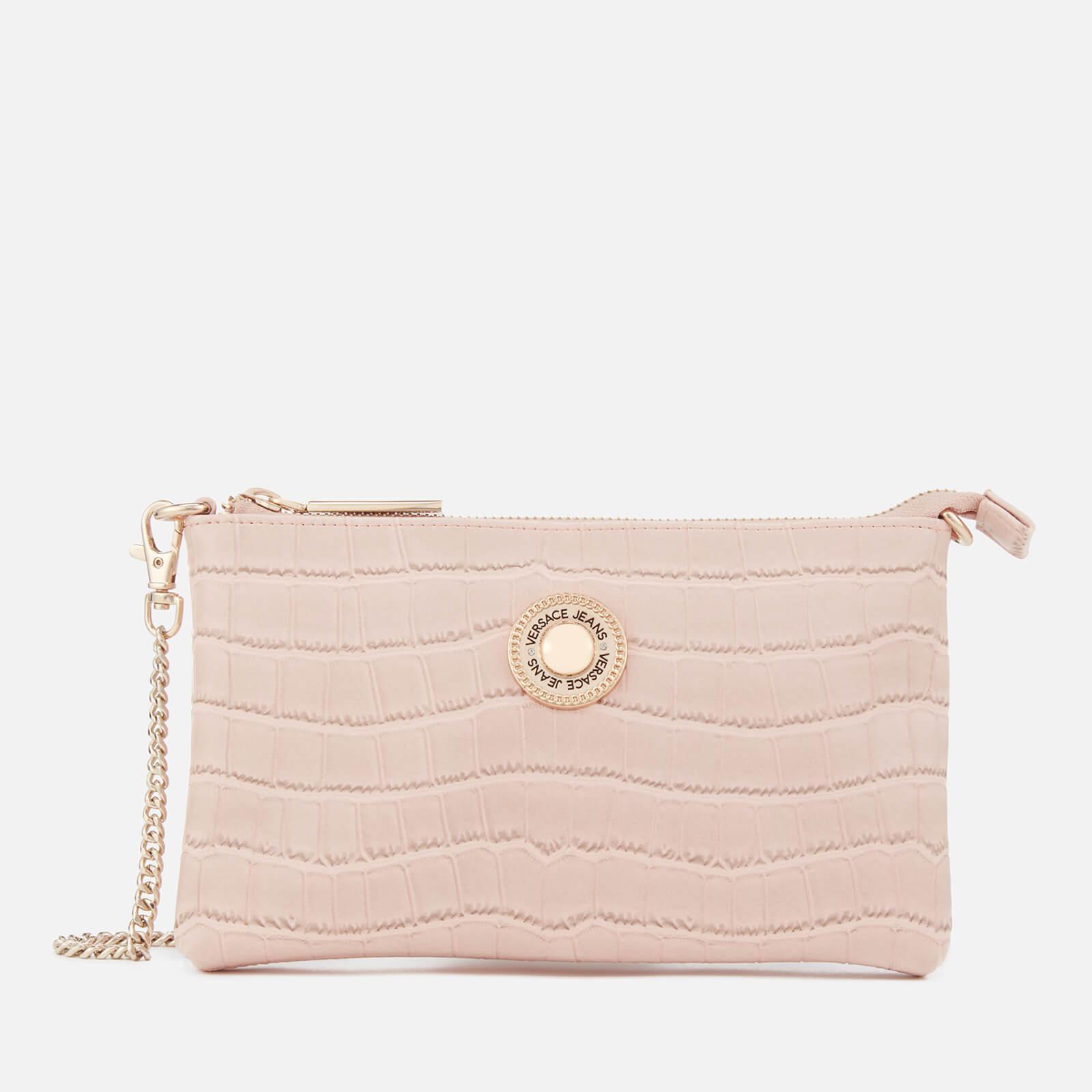ce80fbf3d6f24 Versace Jeans Croc Print Clutch Bag in Pink - Lyst