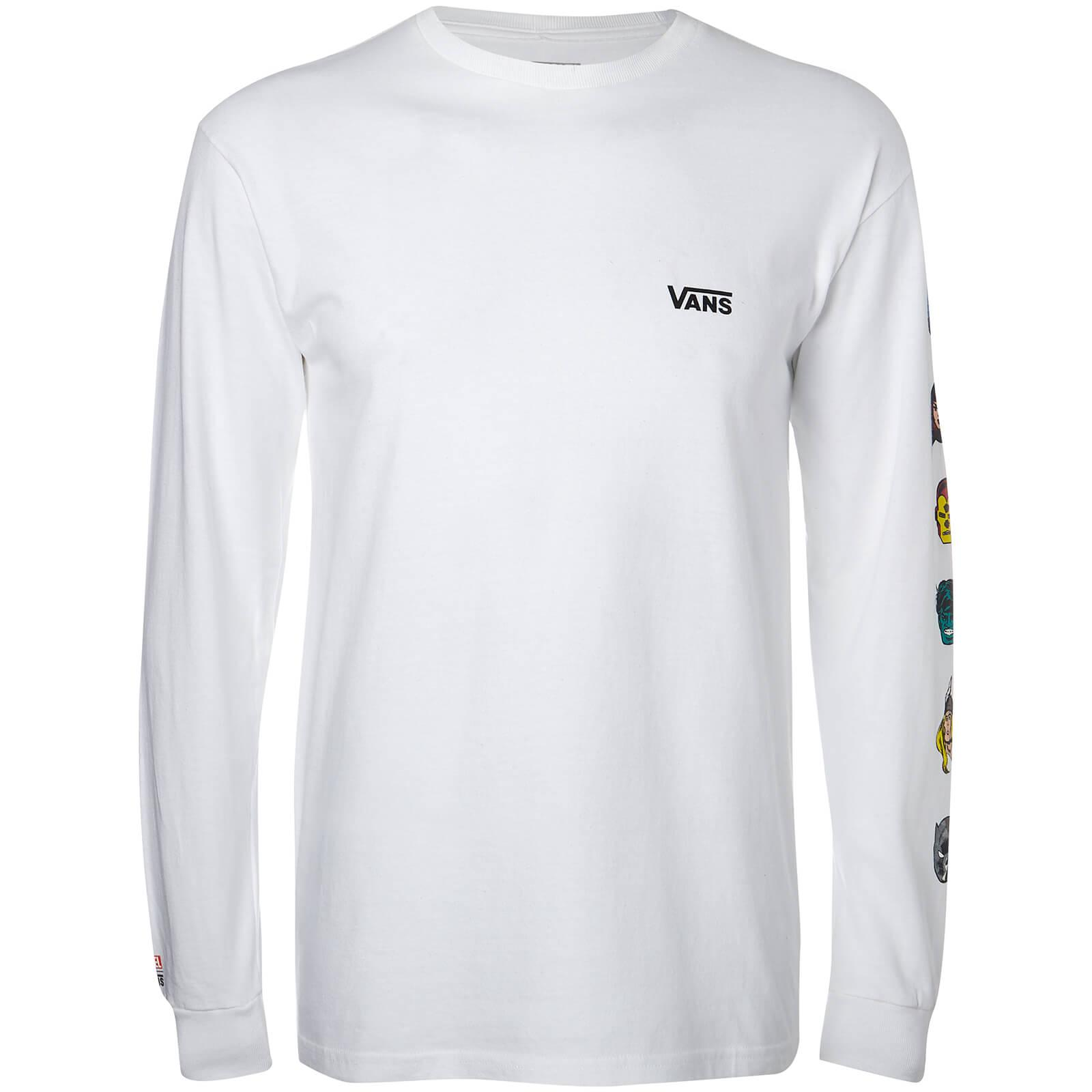 2b7a4178d4 Lyst - Vans Marvel Characters Long Sleeve T-shirt in White for Men