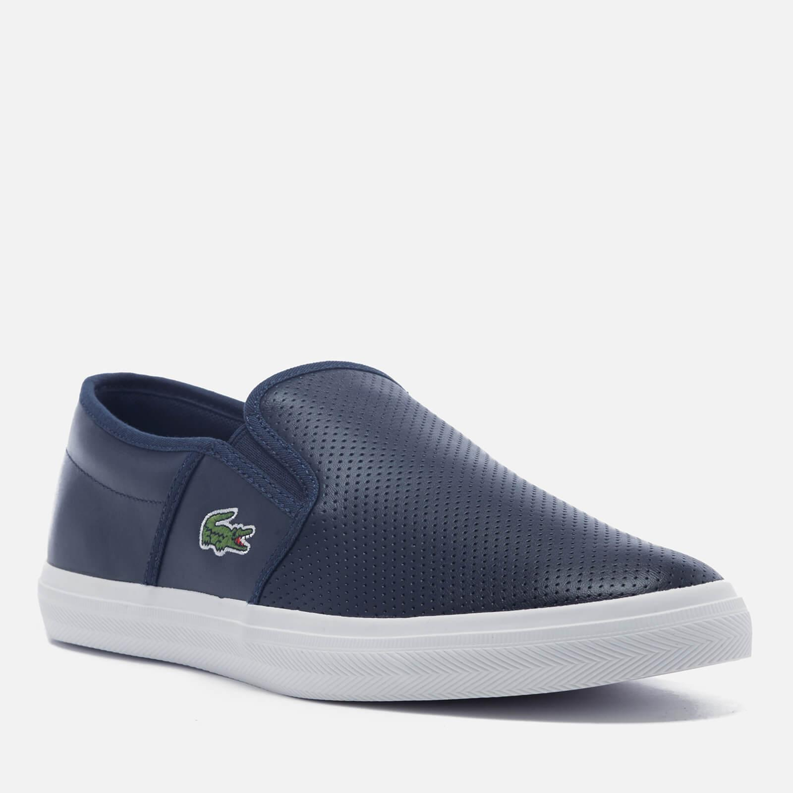 b7e469e4c8a27d Lacoste - Blue Gazon Bl 1 Leather Slip-on Trainers for Men - Lyst. View  fullscreen