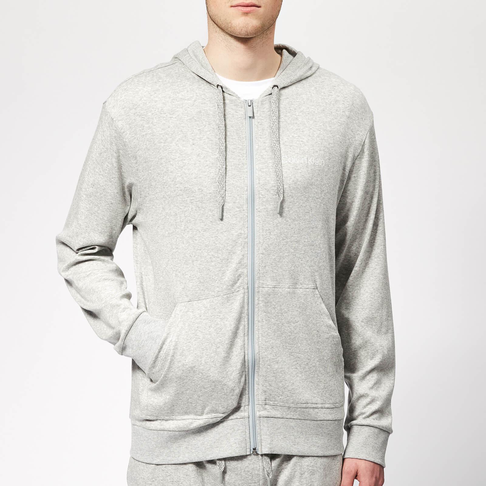 be99198379b7 Calvin Klein Full Zip Lounge Hoodie in Gray for Men - Lyst