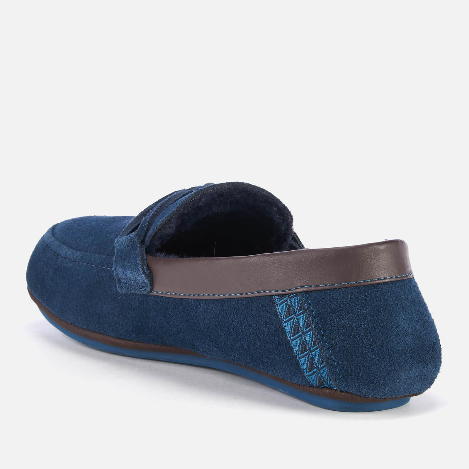 267367088 Ted Baker - Blue Valcent Suede Moccasin Slippers for Men - Lyst. View  fullscreen