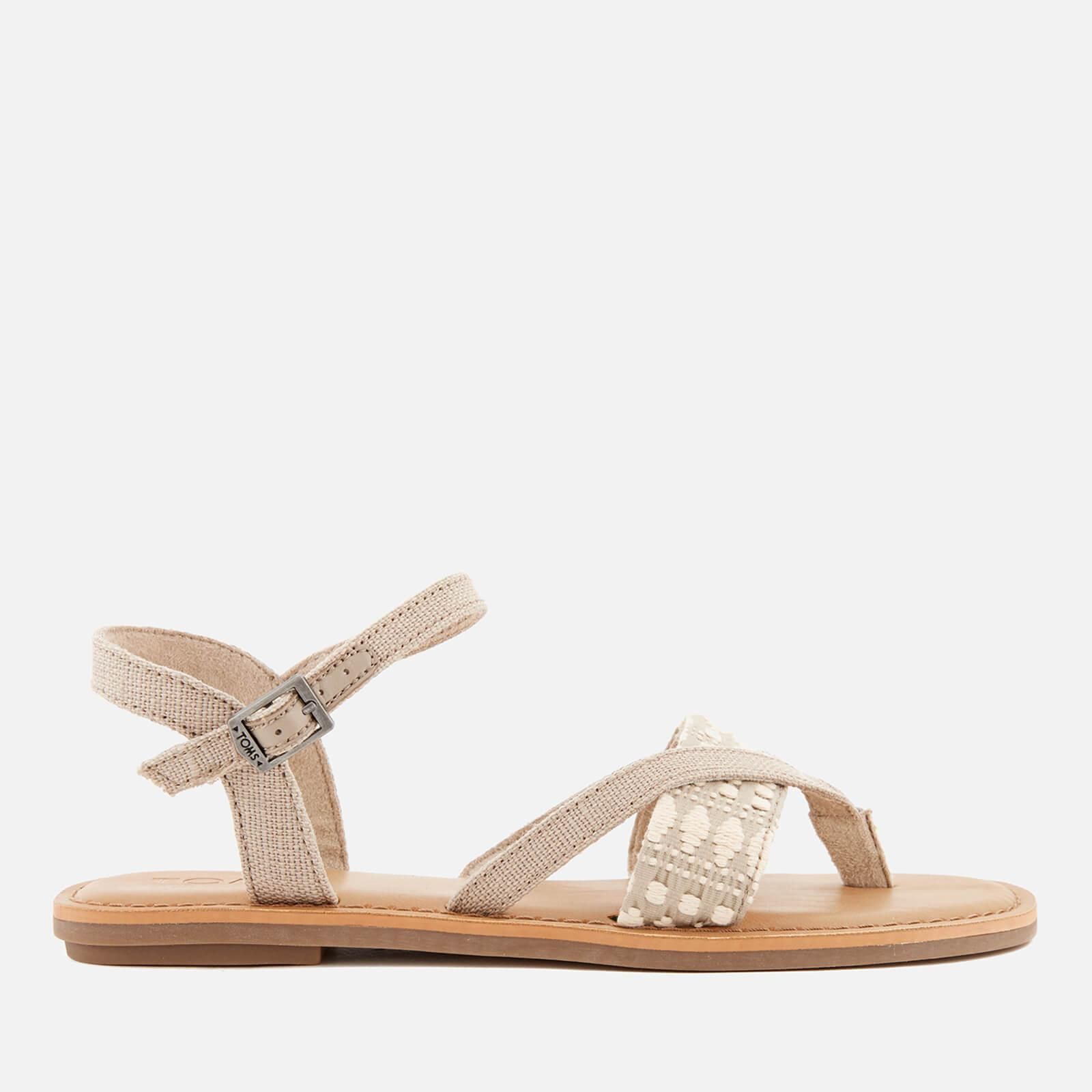 43b8527bf271d Lyst - TOMS Lexie Strappy Sandals in Natural