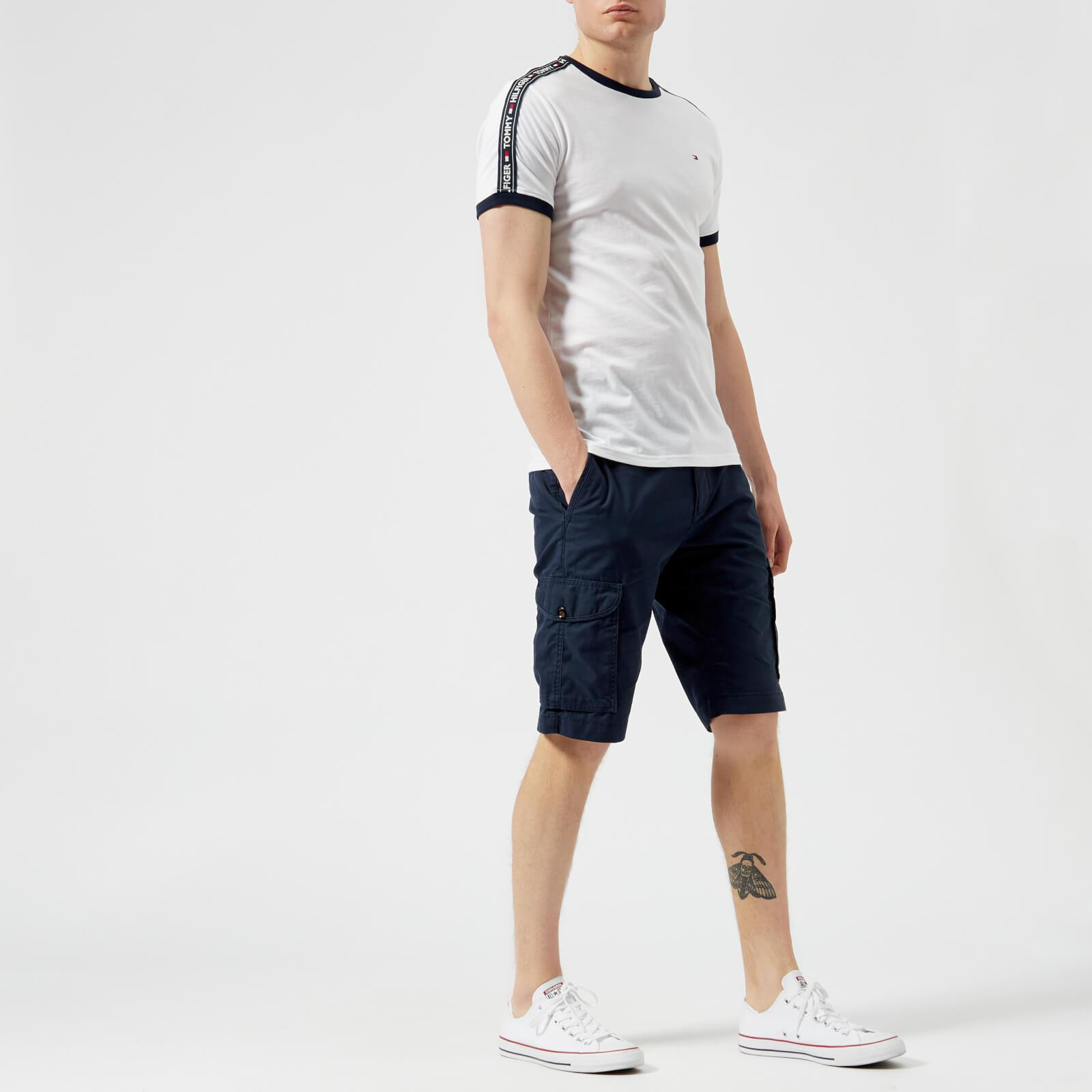 5122e346 Tommy Hilfiger - White Tape T-shirt for Men - Lyst. View fullscreen