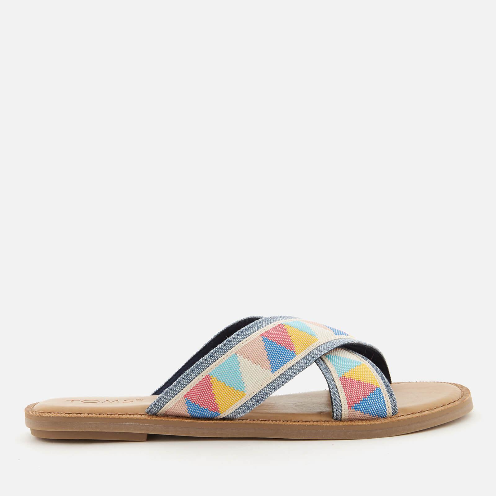 bbe03a3d73e1ac Lyst - Toms Viv Cross Front Slide Sandals in Blue