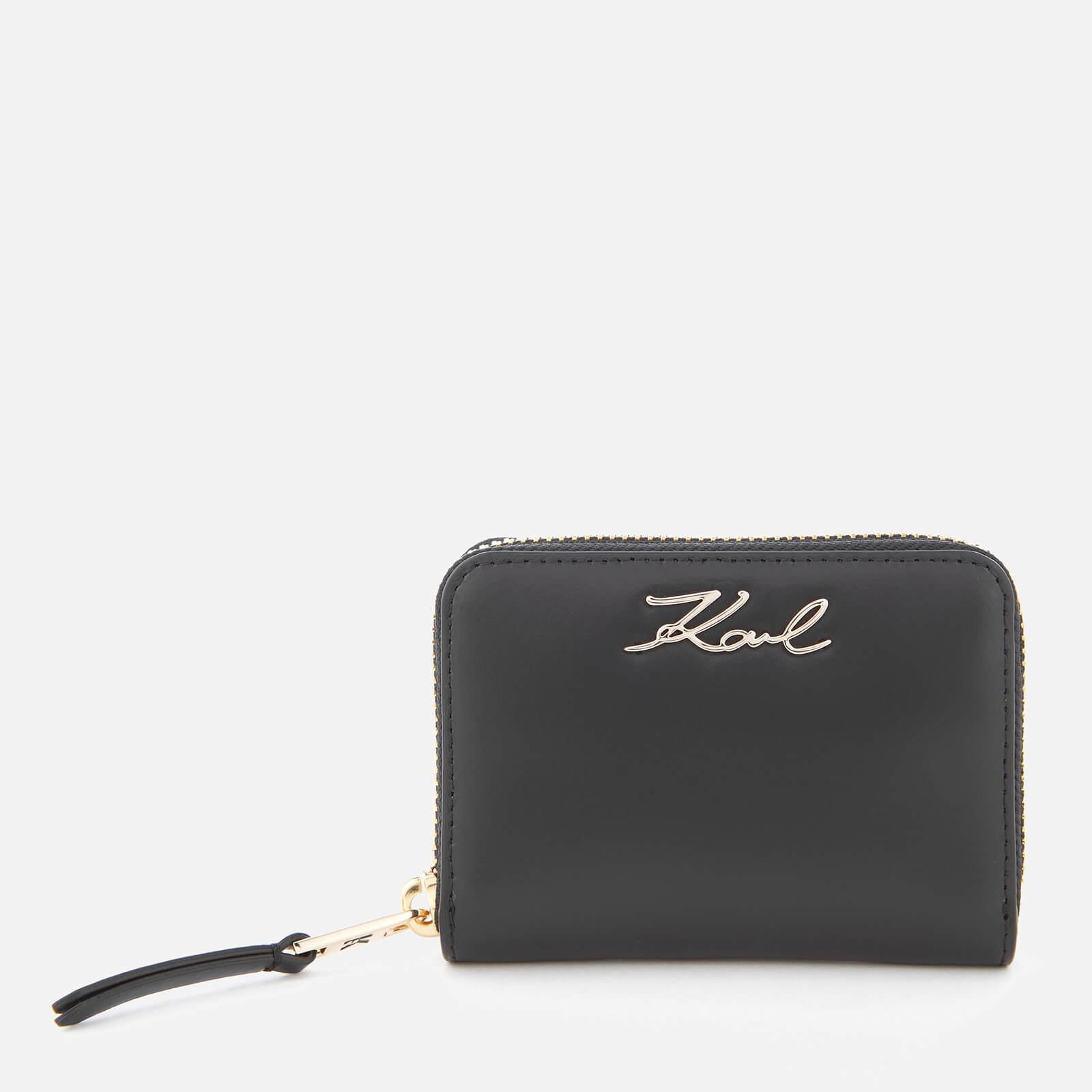 Signature Gloss Fold wallet - Metallic Karl Lagerfeld CVJXh5y