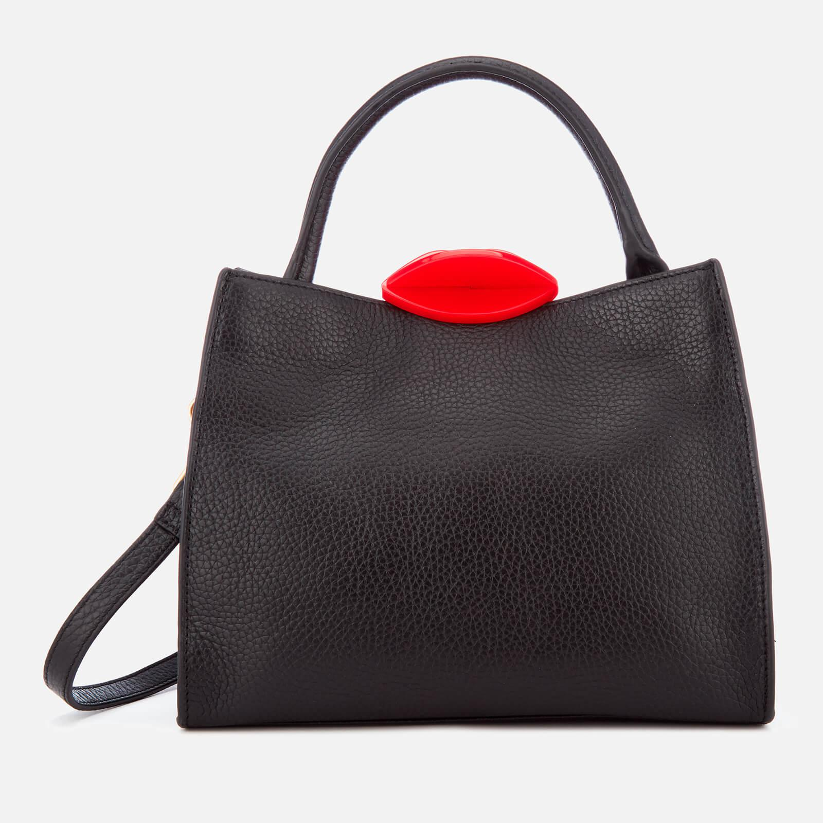 9188003316c23a Lyst - Lulu Guinness Small Locked Lips Opt/strap Annette Tote Bag in Red