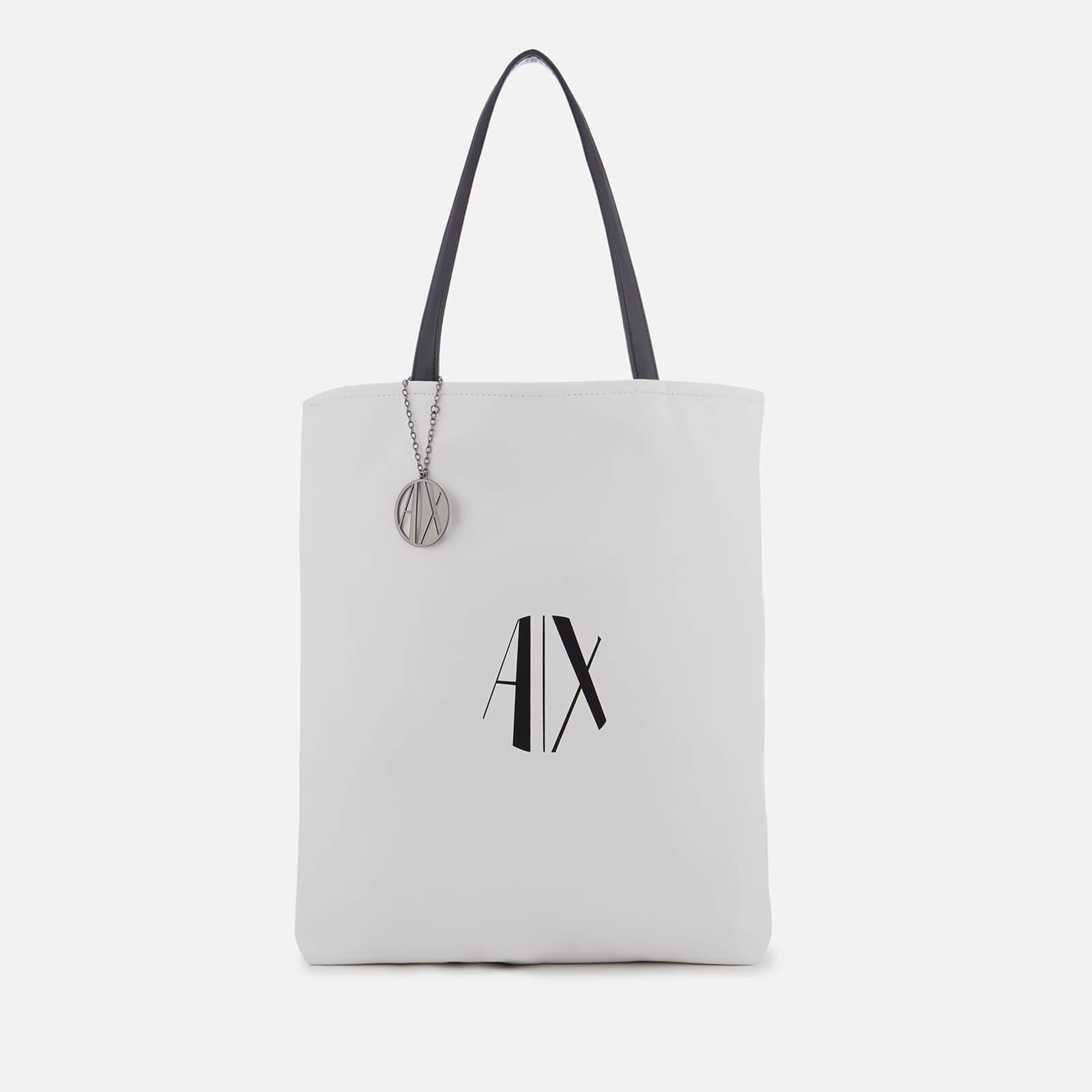 11101bb67254 Lyst - Armani Exchange Reversible Shopping Bag in Black