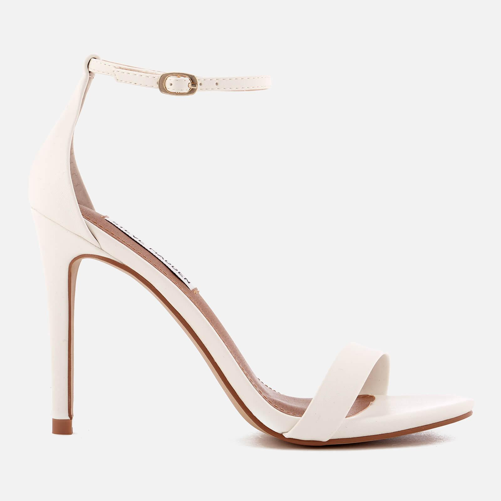 118bc7ce041 Steve Madden Stecy Barely There Heeled Sandals in White - Lyst