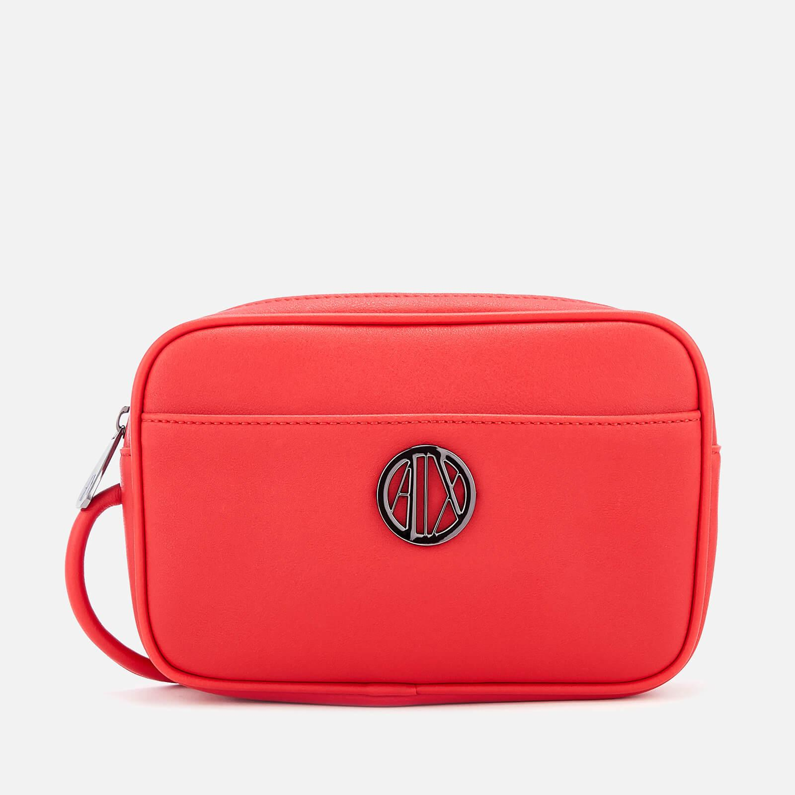 028421f55a46 Lyst - Armani Exchange Small Logo Cross Body Bag in Red