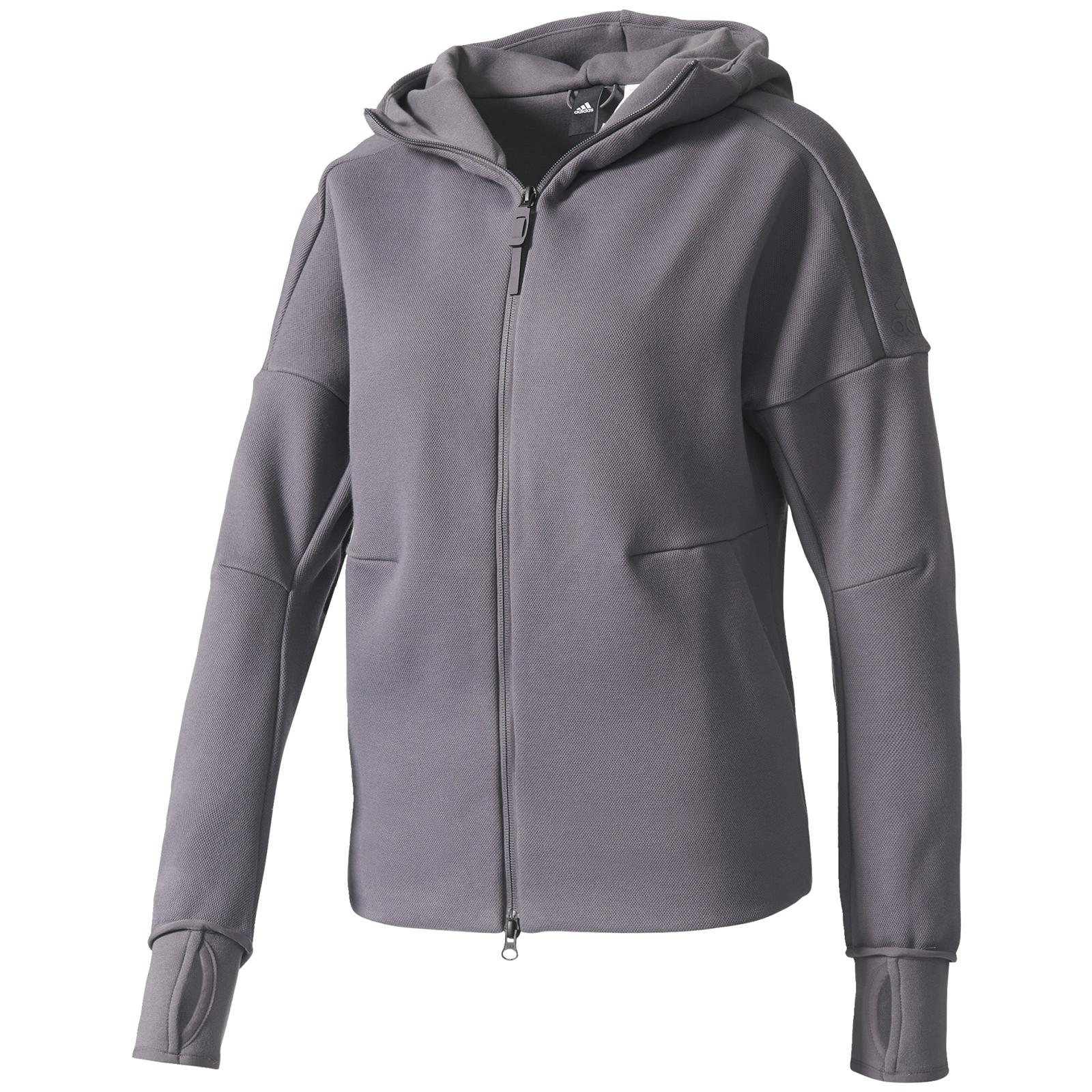 lyst adidas zne hoody in gray. Black Bedroom Furniture Sets. Home Design Ideas